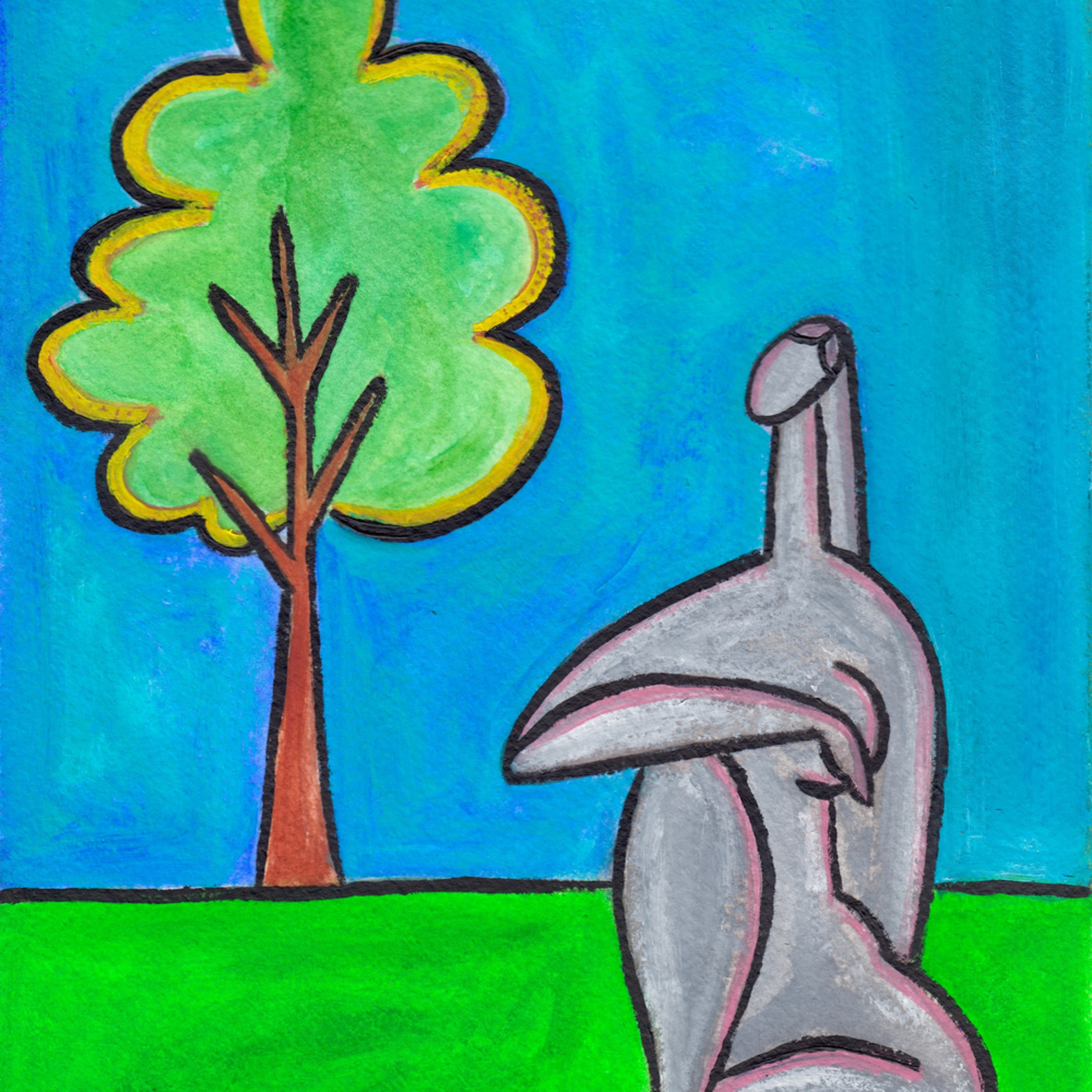 Tree watercolor oil painting paul zepeda wet paint nyc pdtjti