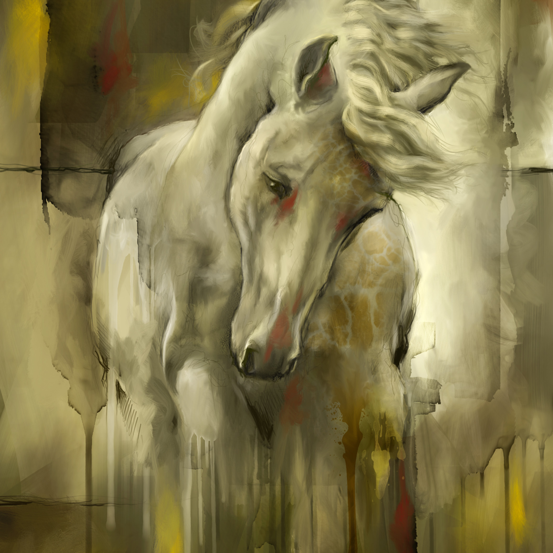 Intrepid horse mixed media srgug6