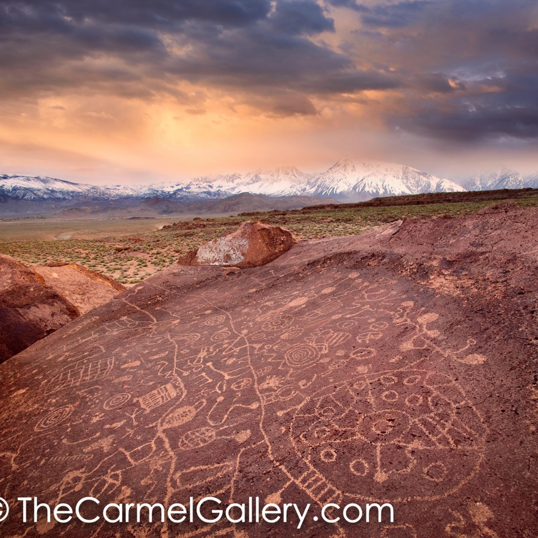 Sunset on petroglyphs tbzvdz