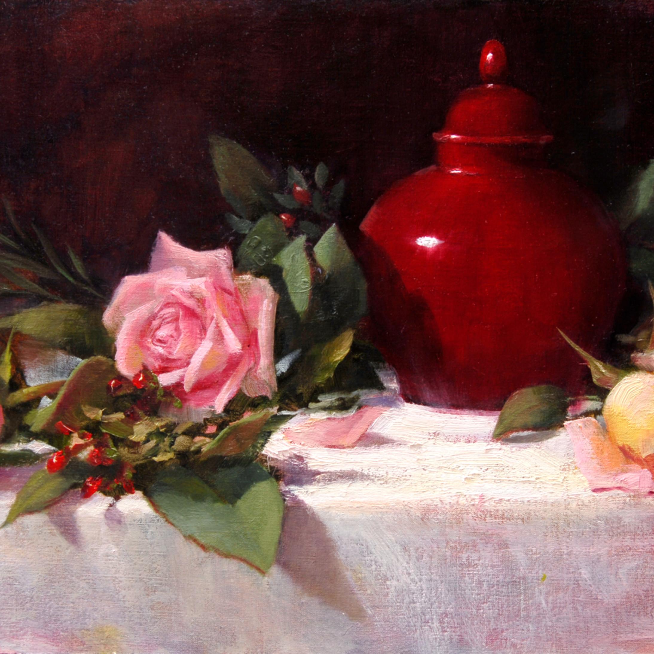 Roses and ginger jar xroabm