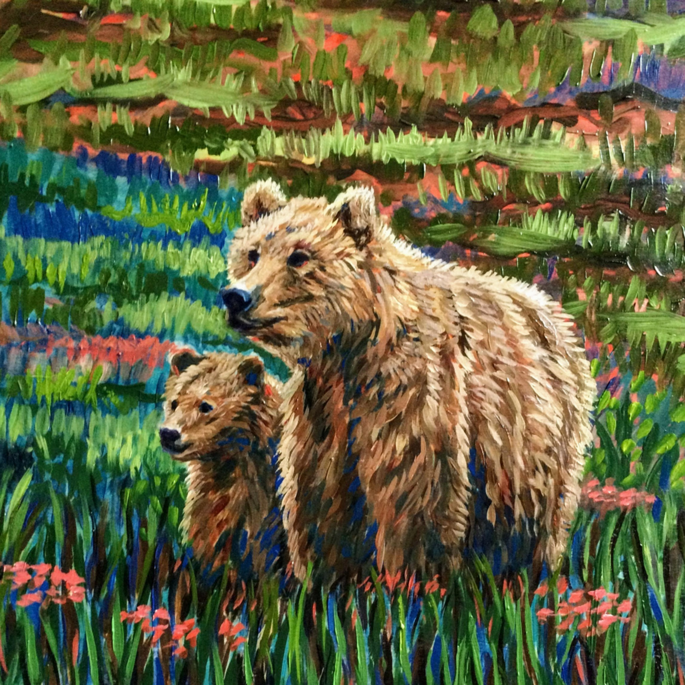 Mother and cub denali b3yiuy