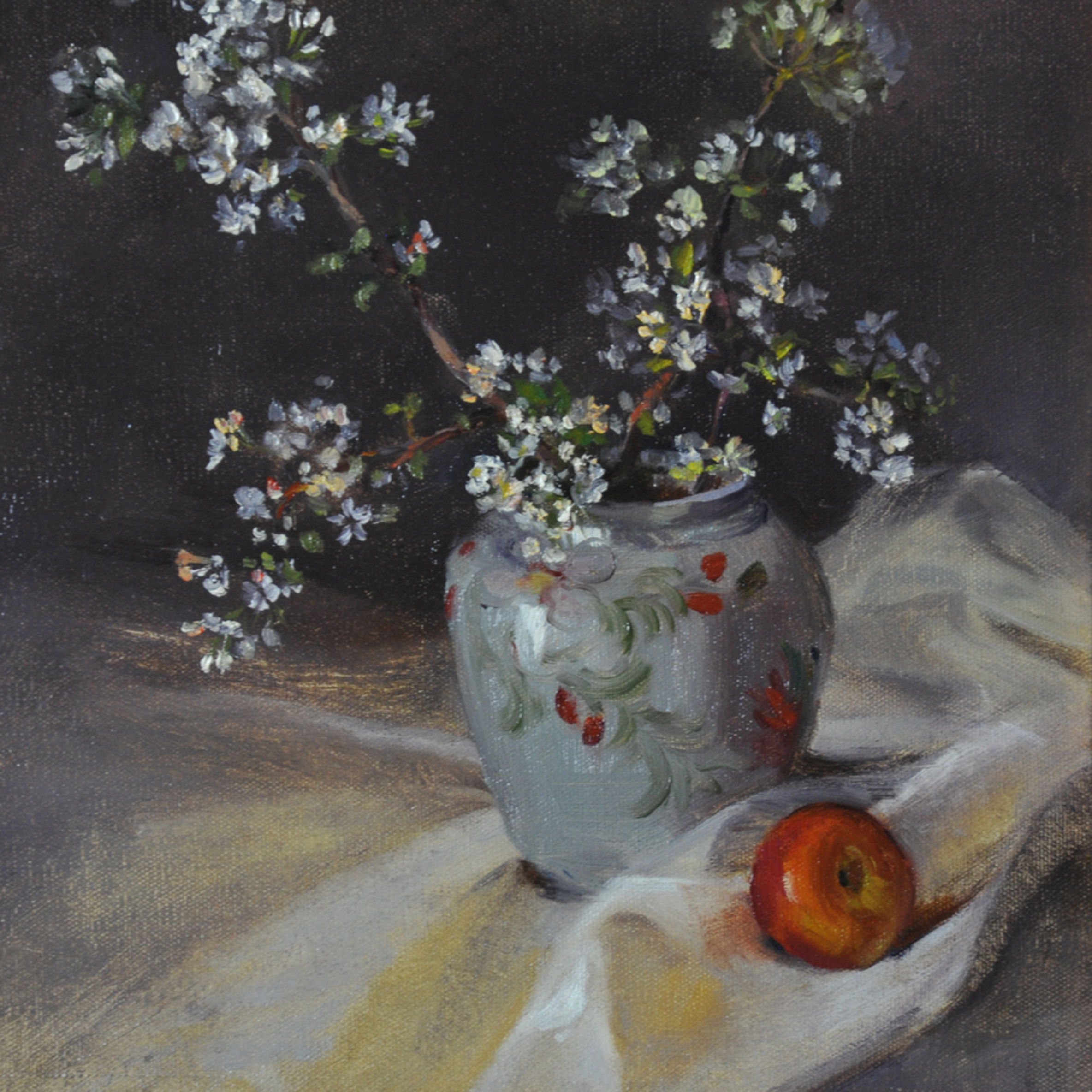 Apple blossoms and apple 2 print mkmkr1
