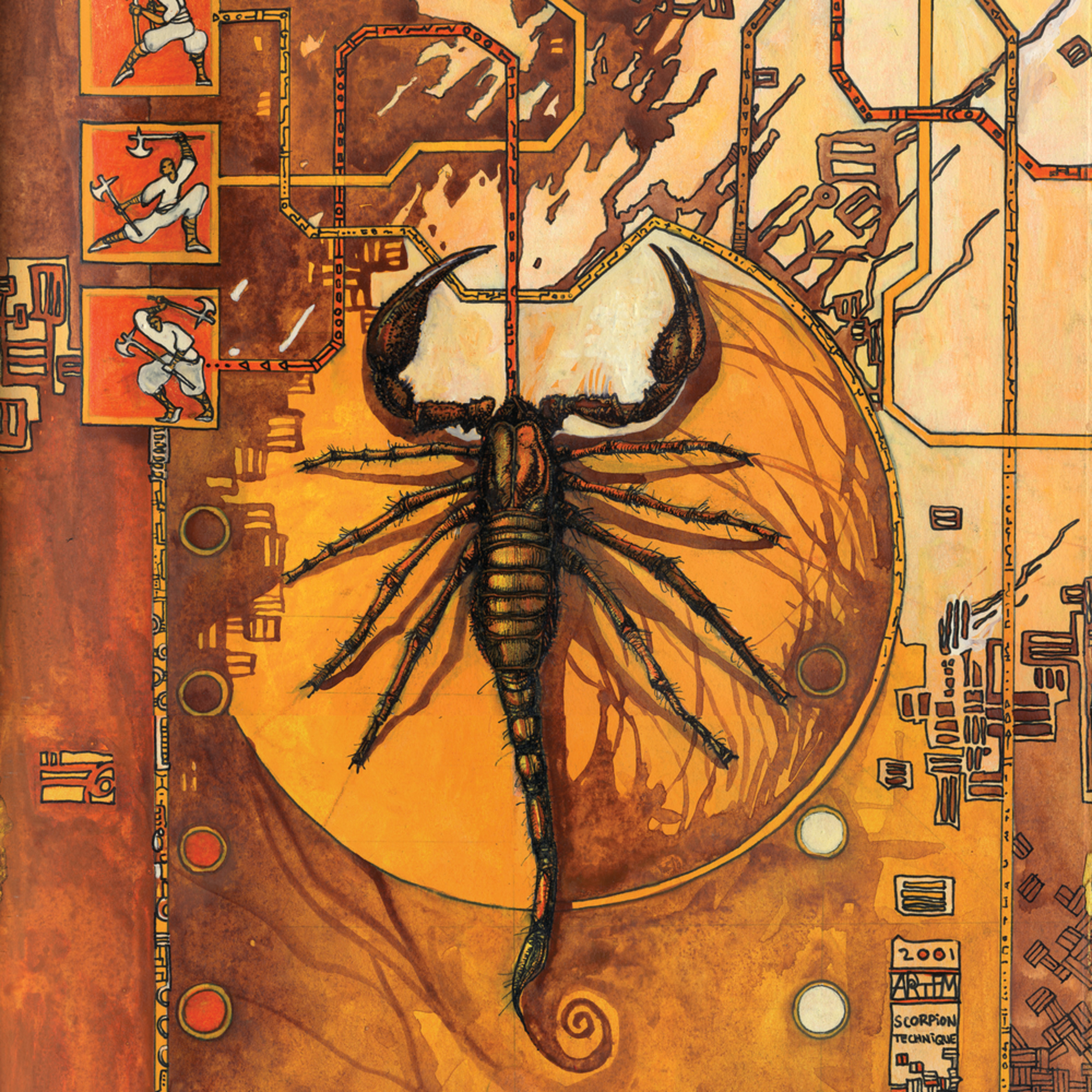 Scorpion cmyk ykjupb