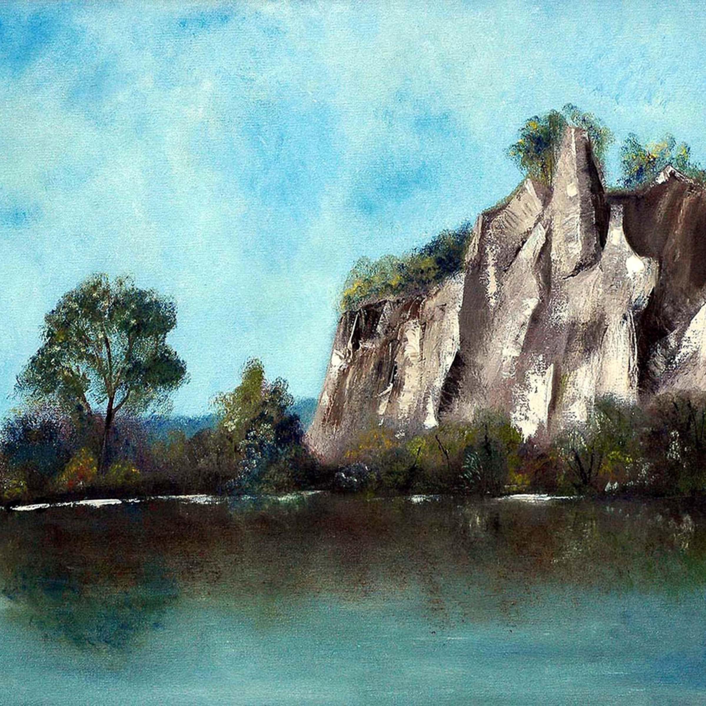 Scarborough bluffs   oil on canvas   20 22 x 24 22 w4fotp
