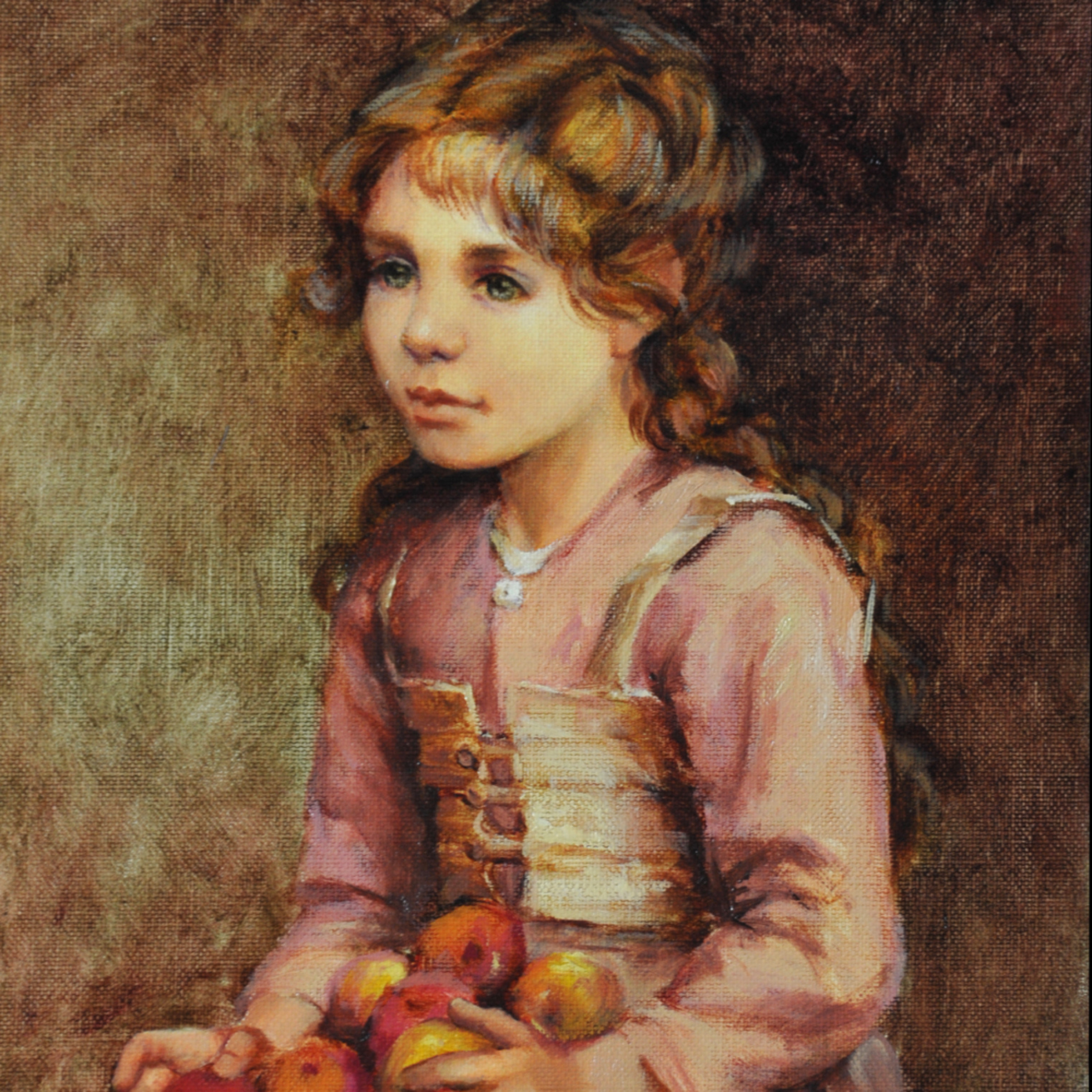 Abigail with apples 2 print j5itgh