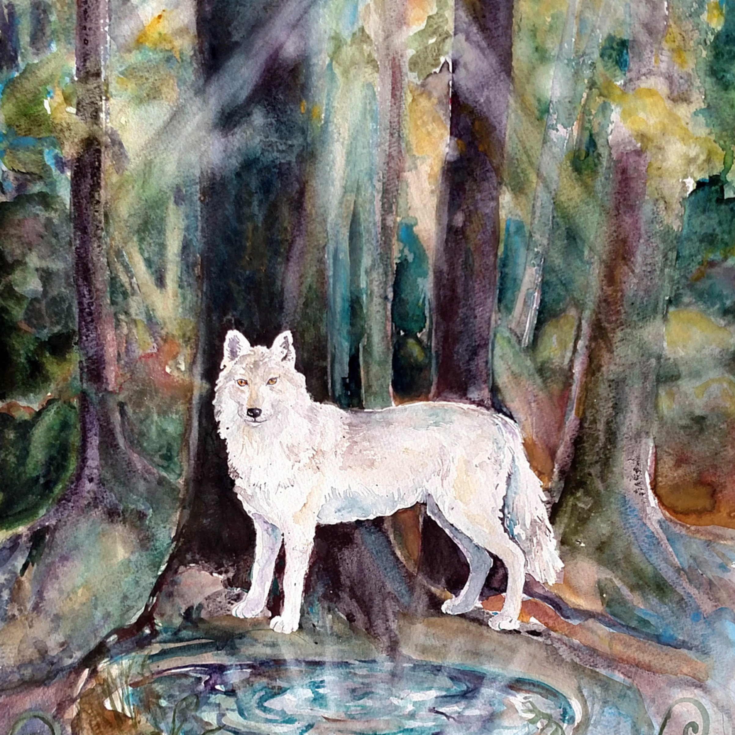 Guardian of three worlds wolf spirit animal naf7vi