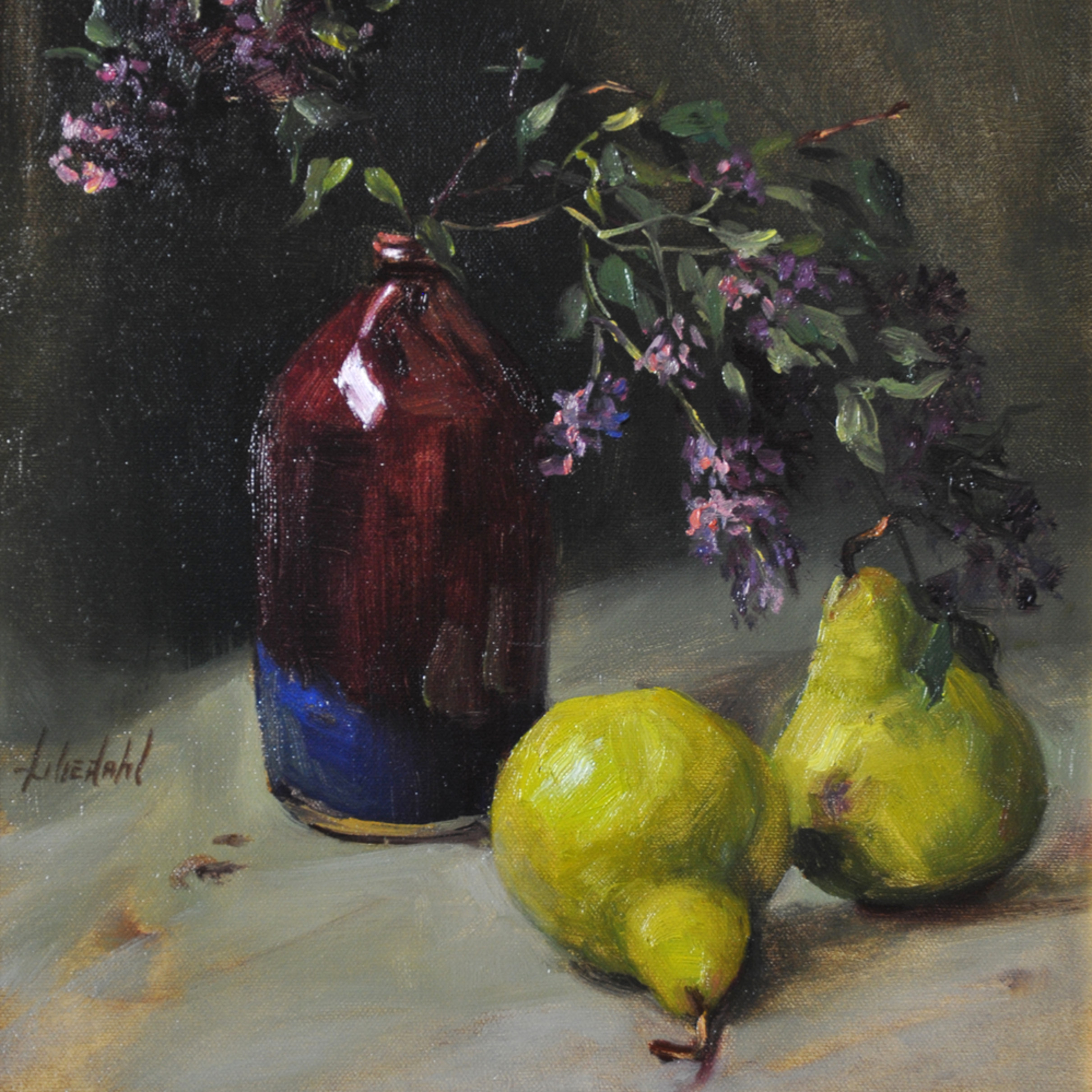 Lilacs and pears 2 print xswq54
