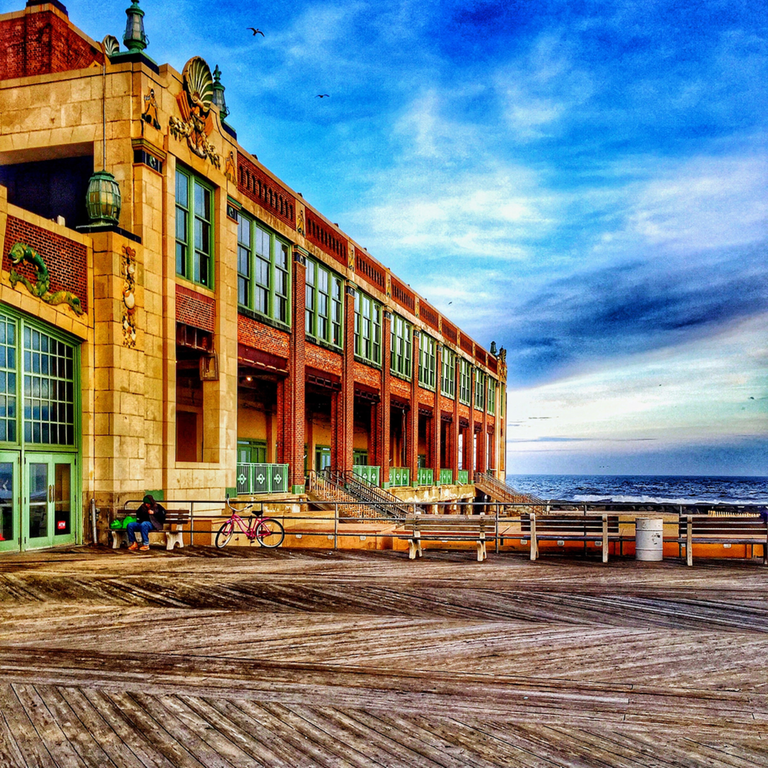 On the boardwalk at asbury park convention hall uc7vfp