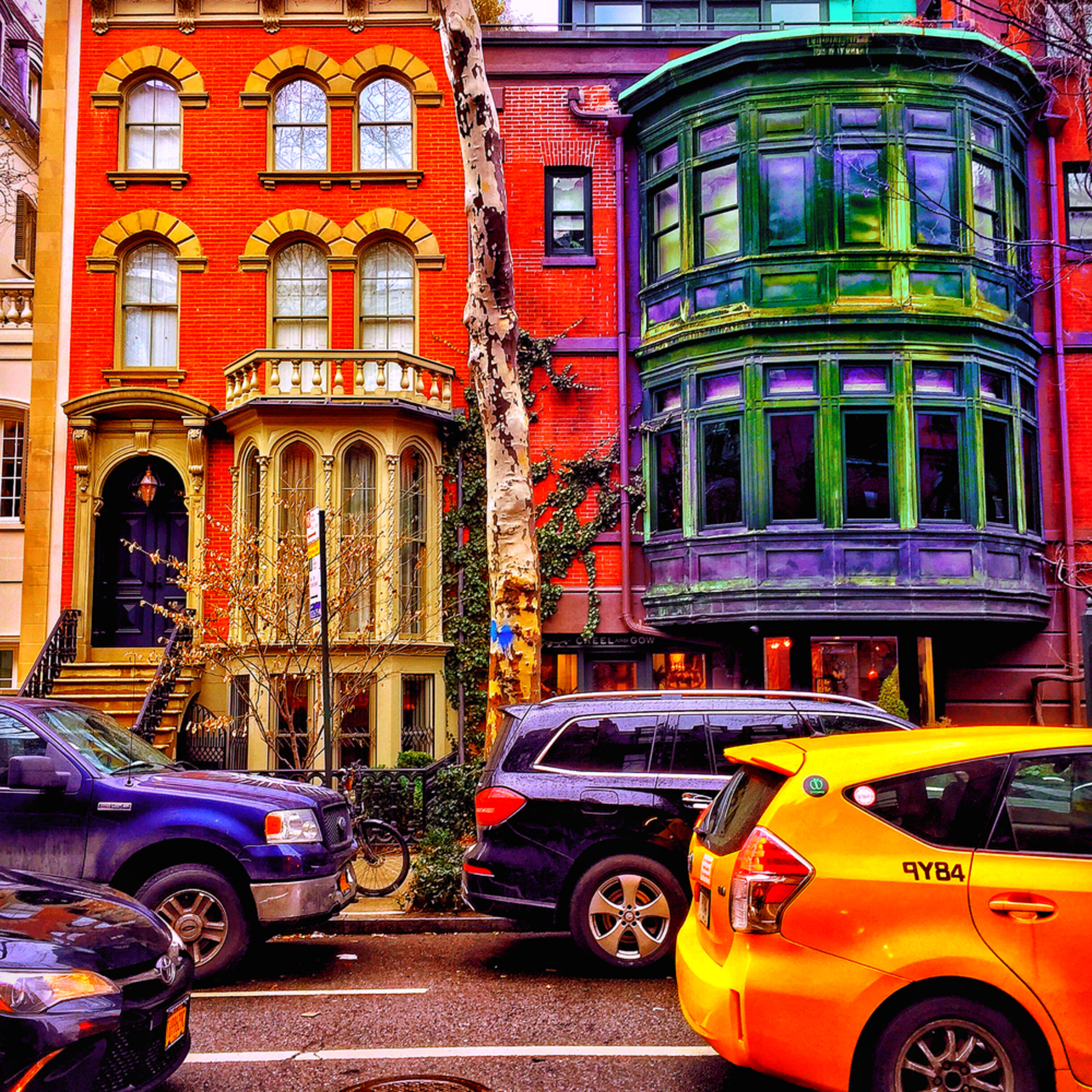 Colorful brownstones bycbzh