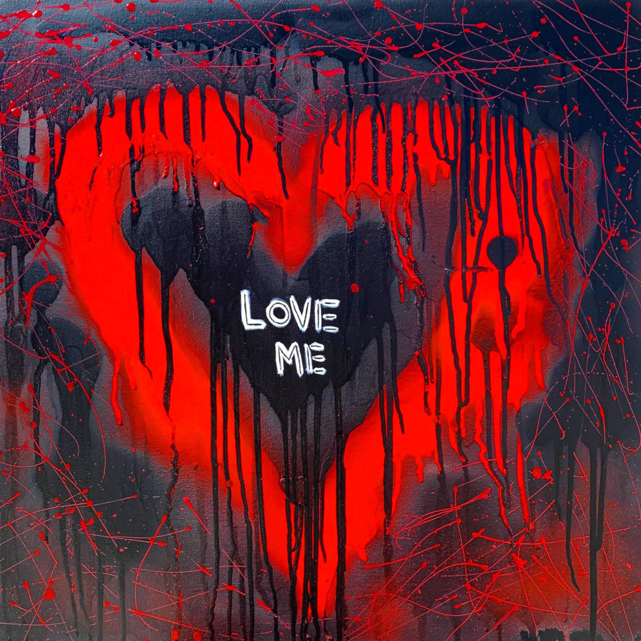 Love me drip heart pop art painting artist paul zepeda e9r0x2
