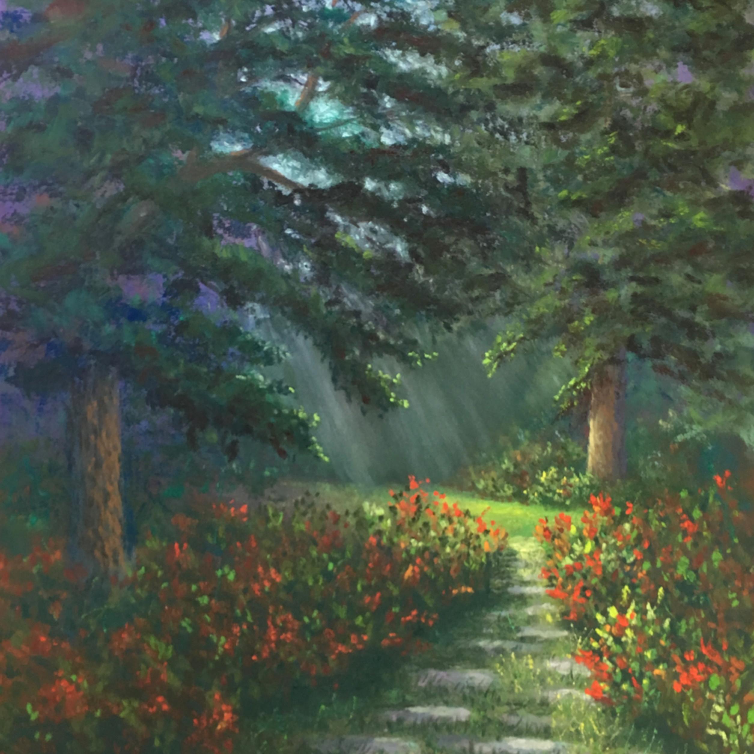 Glowing garden path u3pbkl