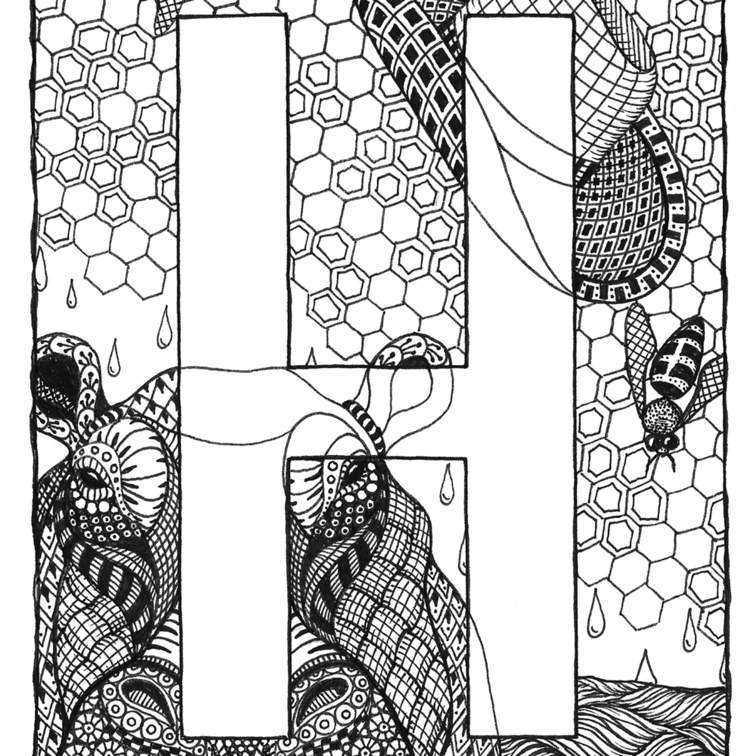 Alphabet  h go12sw