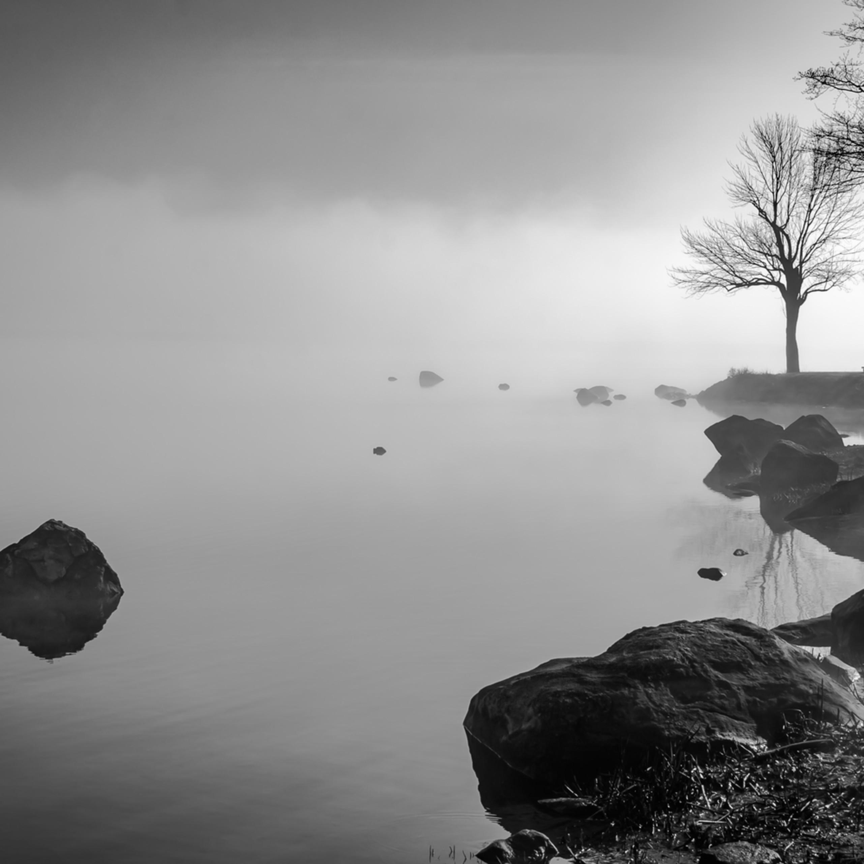 North cove shoreline silhouettes xdz8ic
