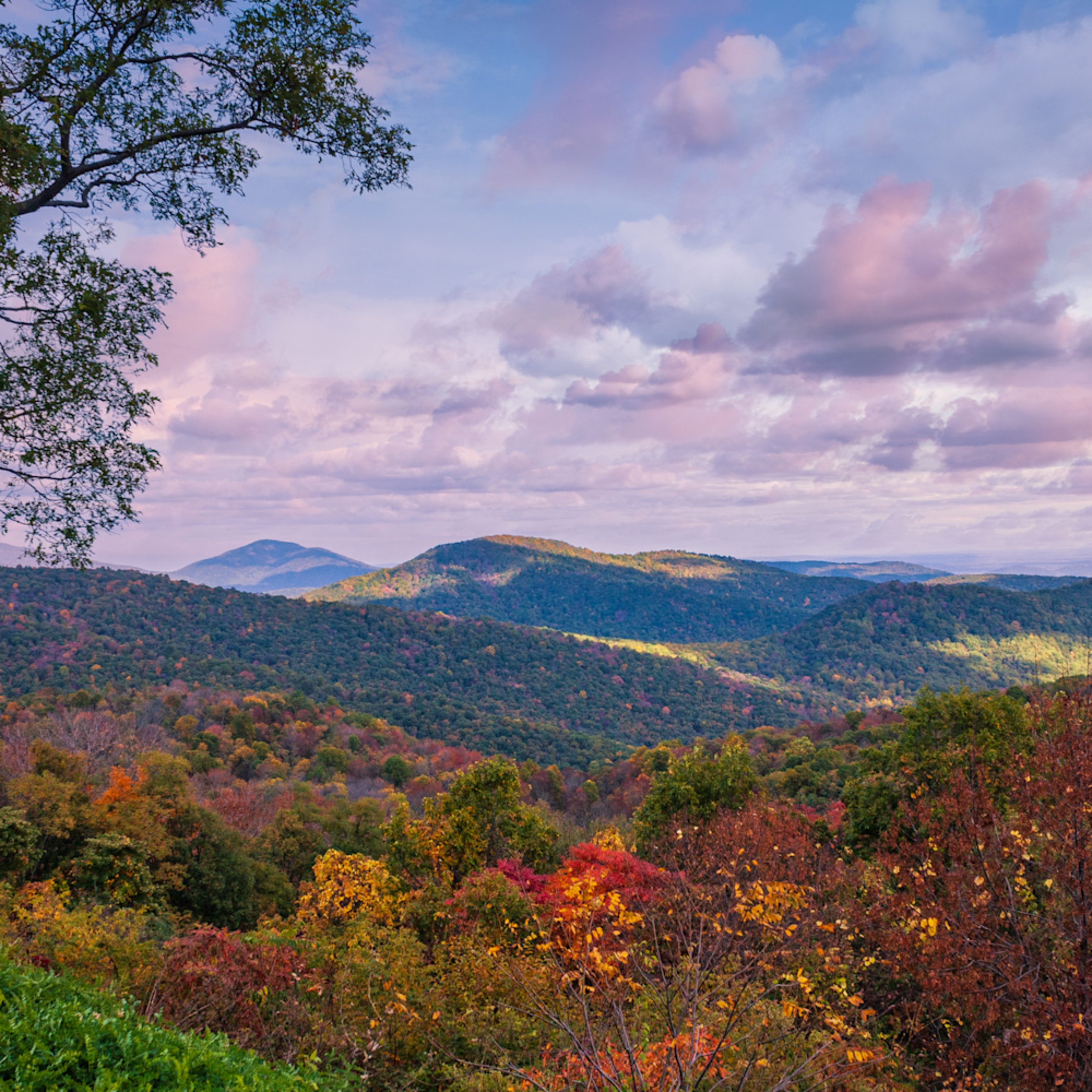 Early fall in the shenandoah mountains lxbxdu