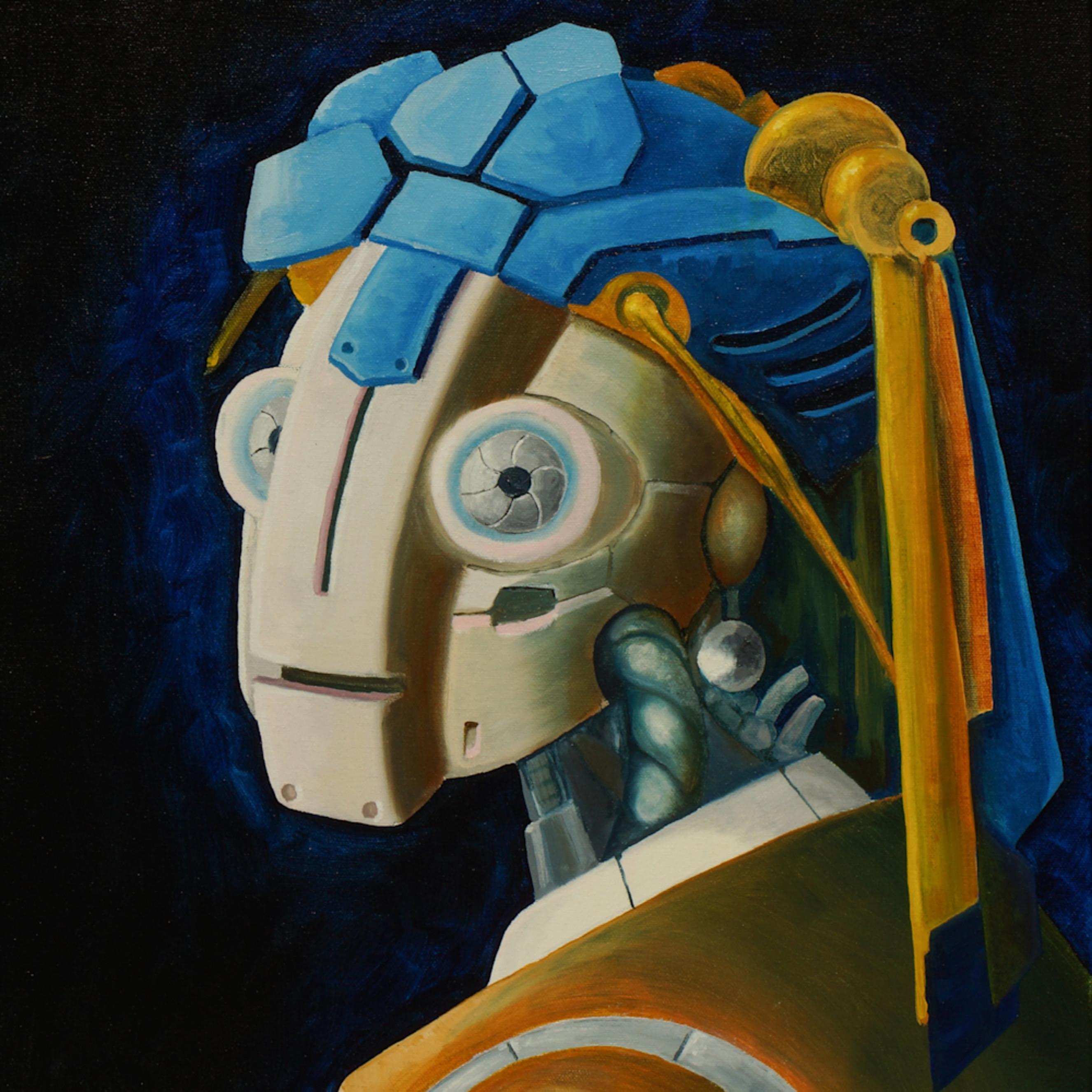 Robot girl w pearl earing uzsixm