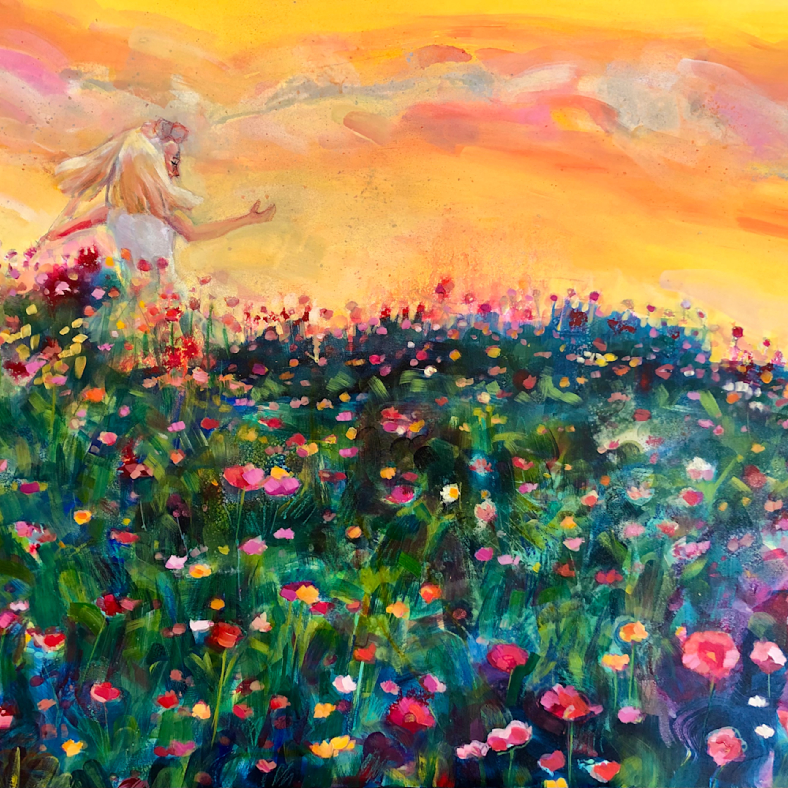 Glorious journey oil and mixed media on panel 24x36 jxar46