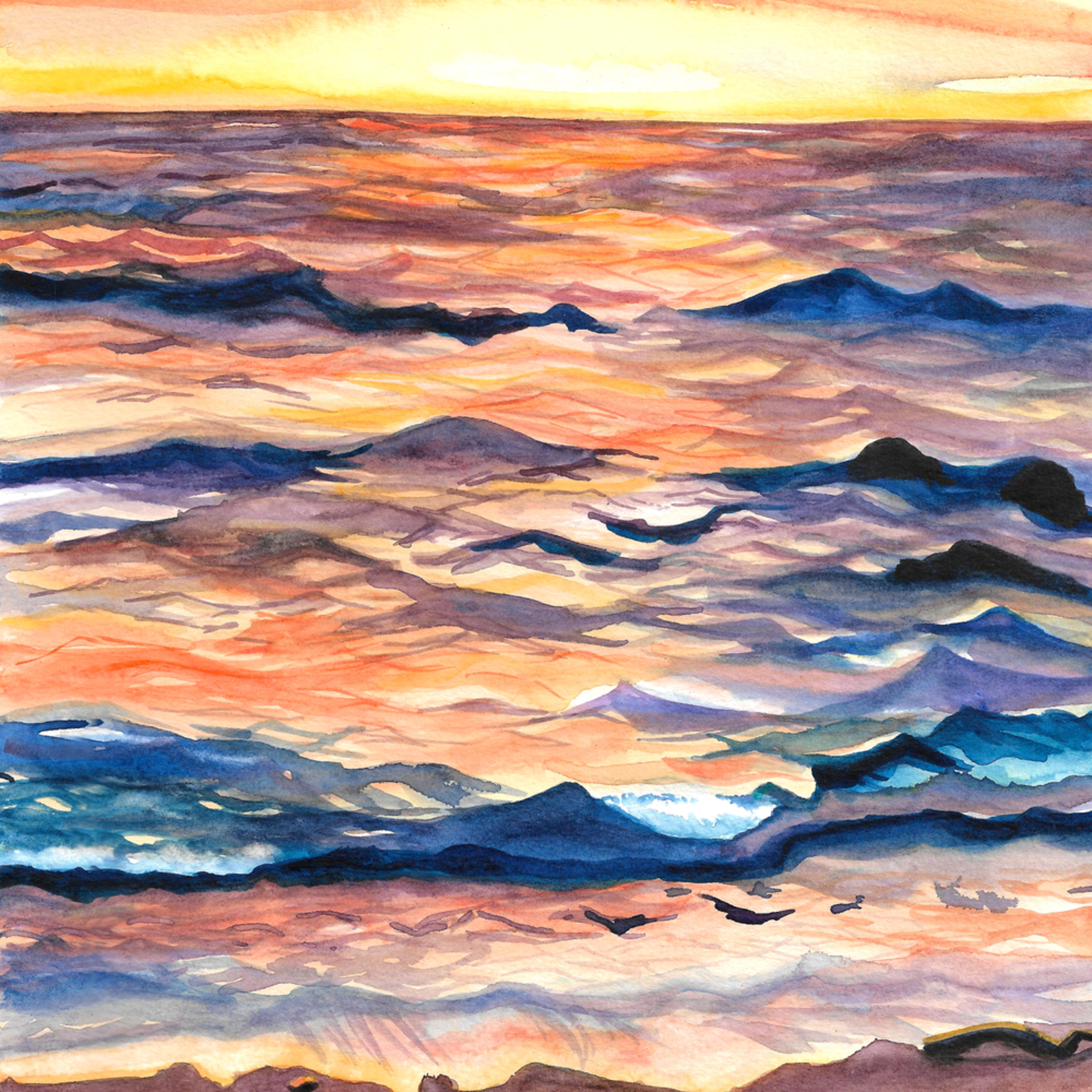 Erie waves 2020 brittany selfe 9 x 12 watercolor kopzat