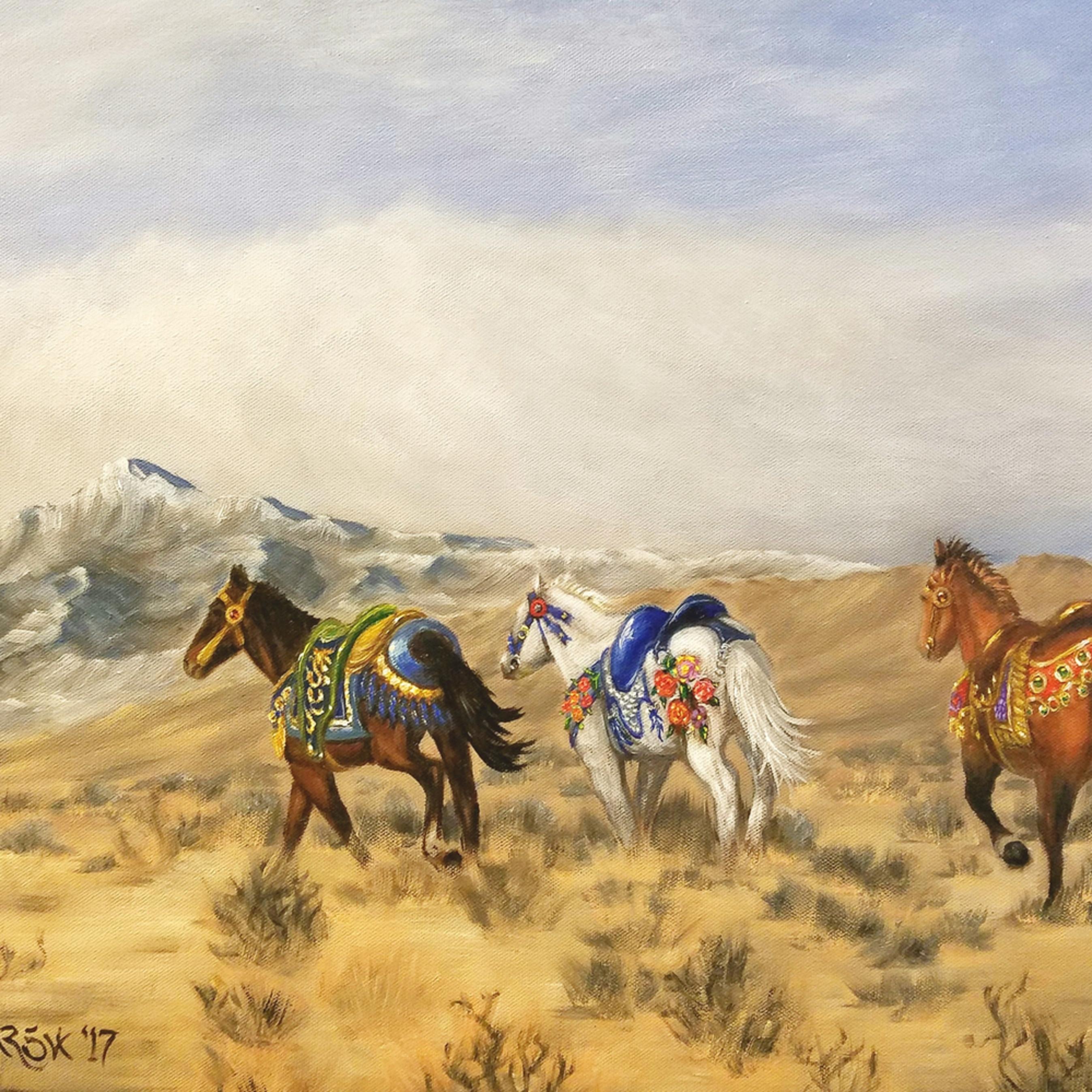 Wild carousel horses 087 nqjkuw