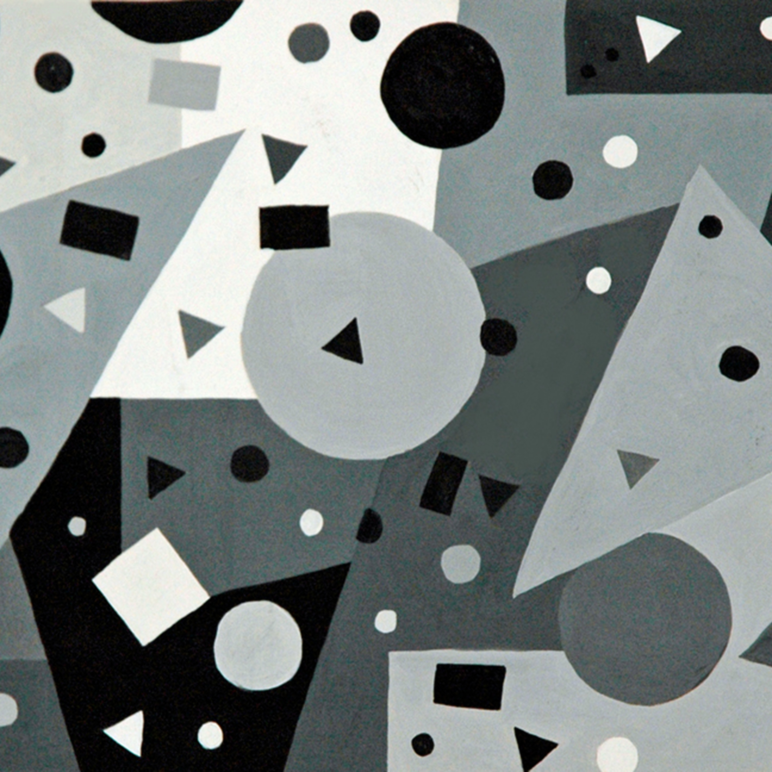 Shades of gray   9 22 x 16 22   gouache on paper mounted on board   resin coat ds6ask