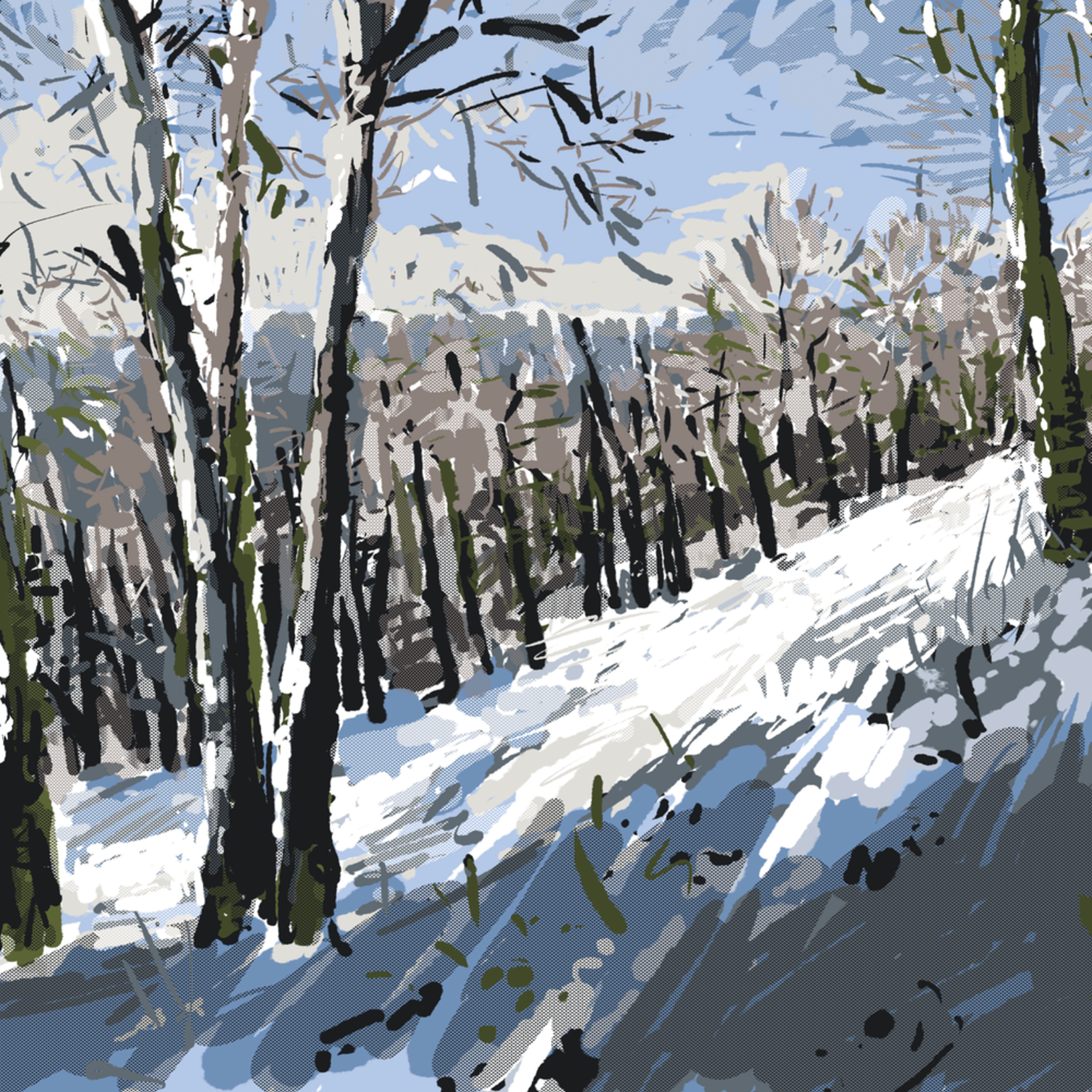Pine ridge prairie in snow by andrew daniel fh8mqu