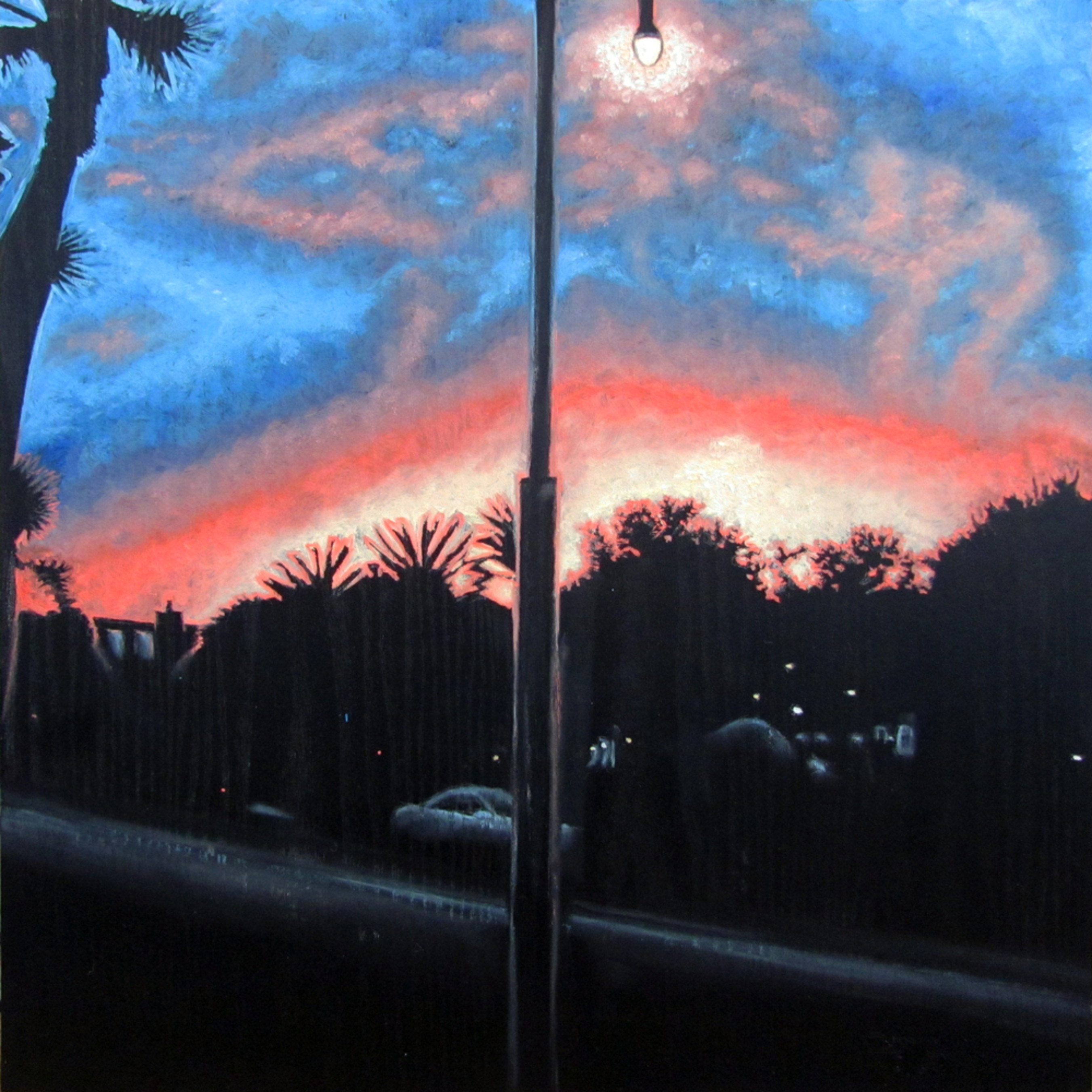 Sunset over playa vista print zspvei