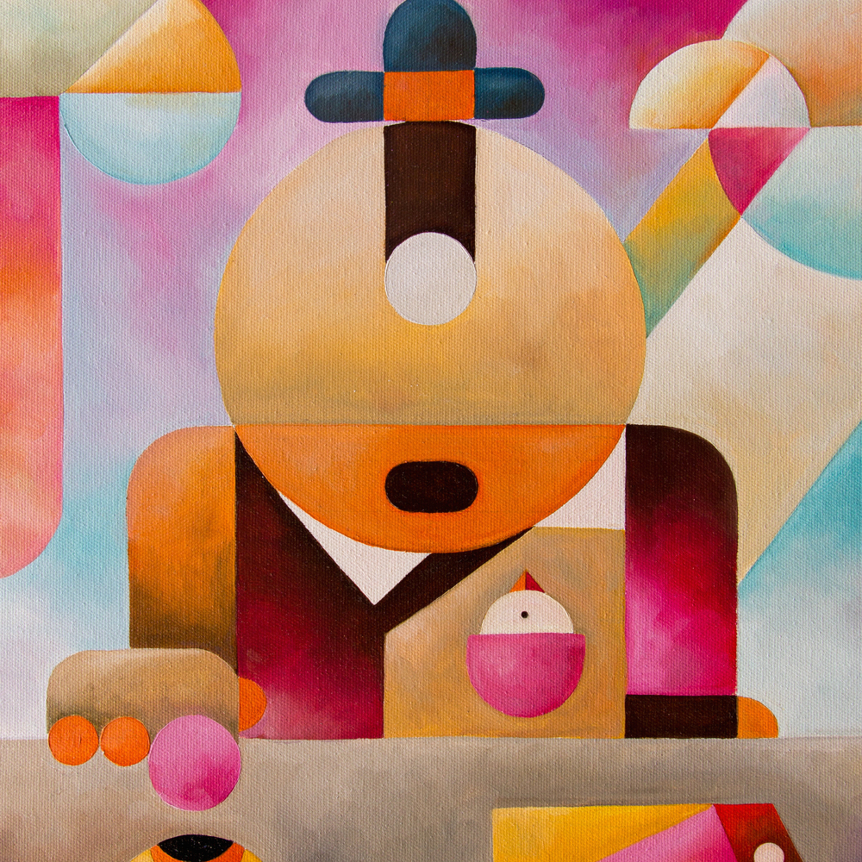 Antony squizzato natural born clicker oil on canvas gf84iq