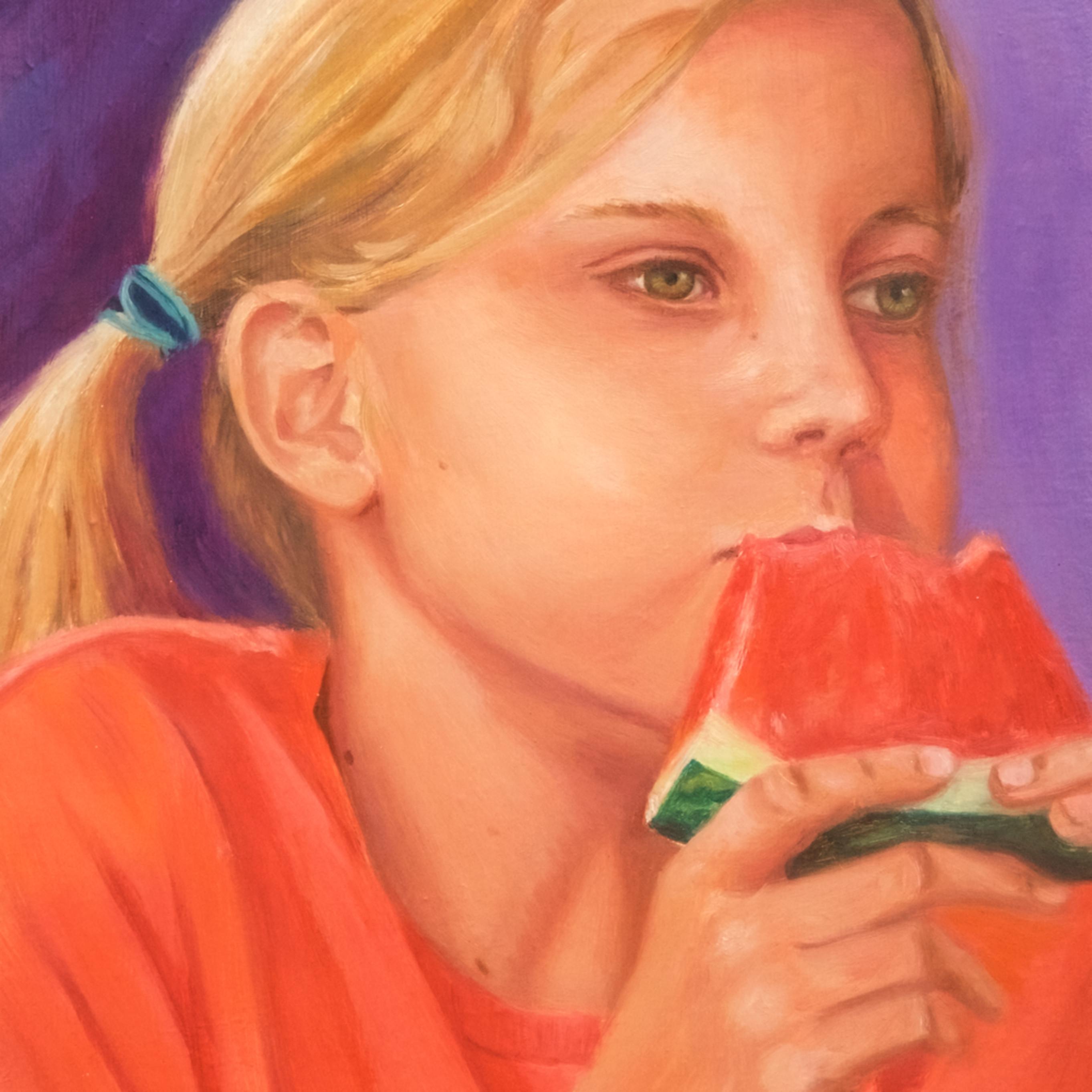 Lauren eating watermelon xyhrth