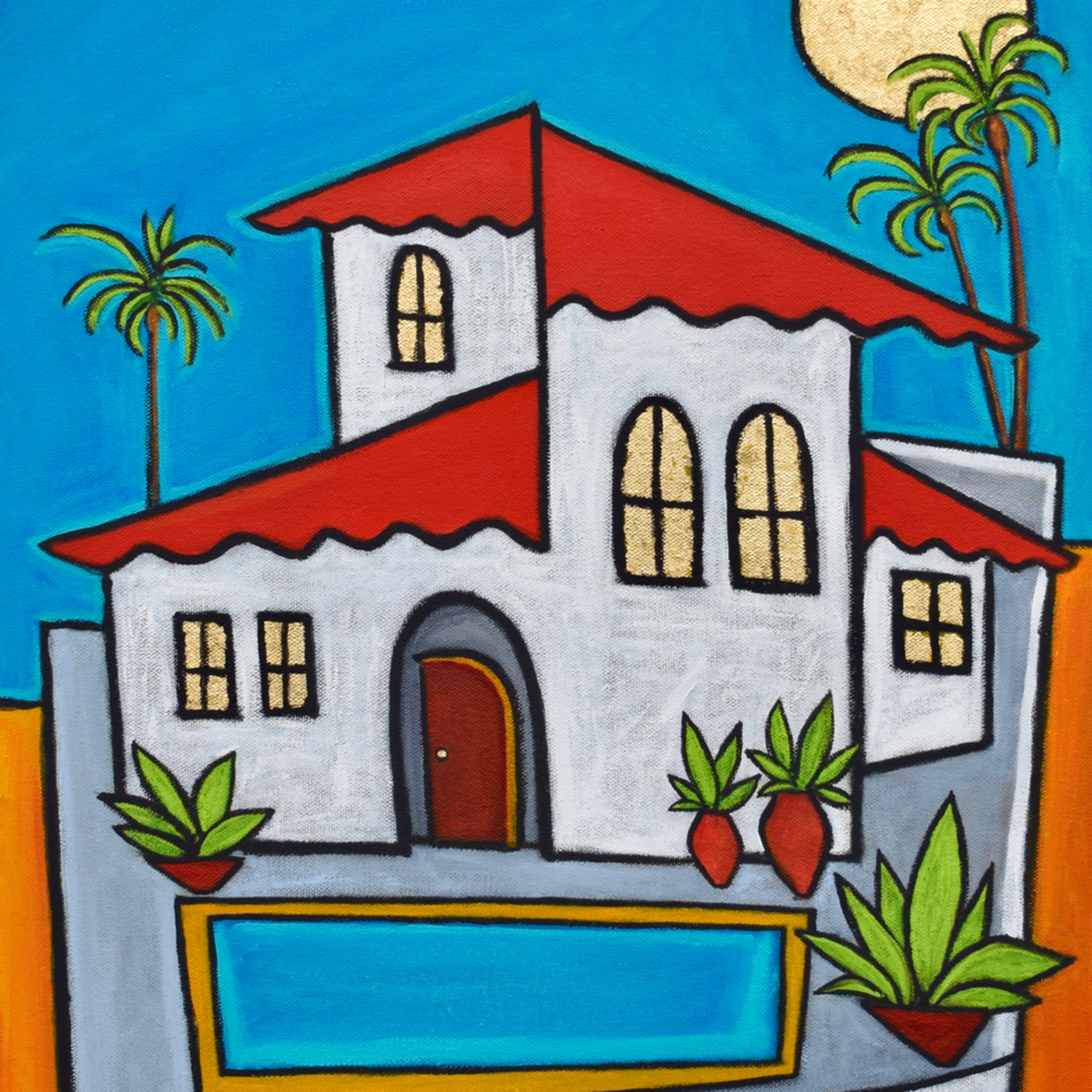 Spanish villa painting paul zepeda wet paint nyc h6twz0