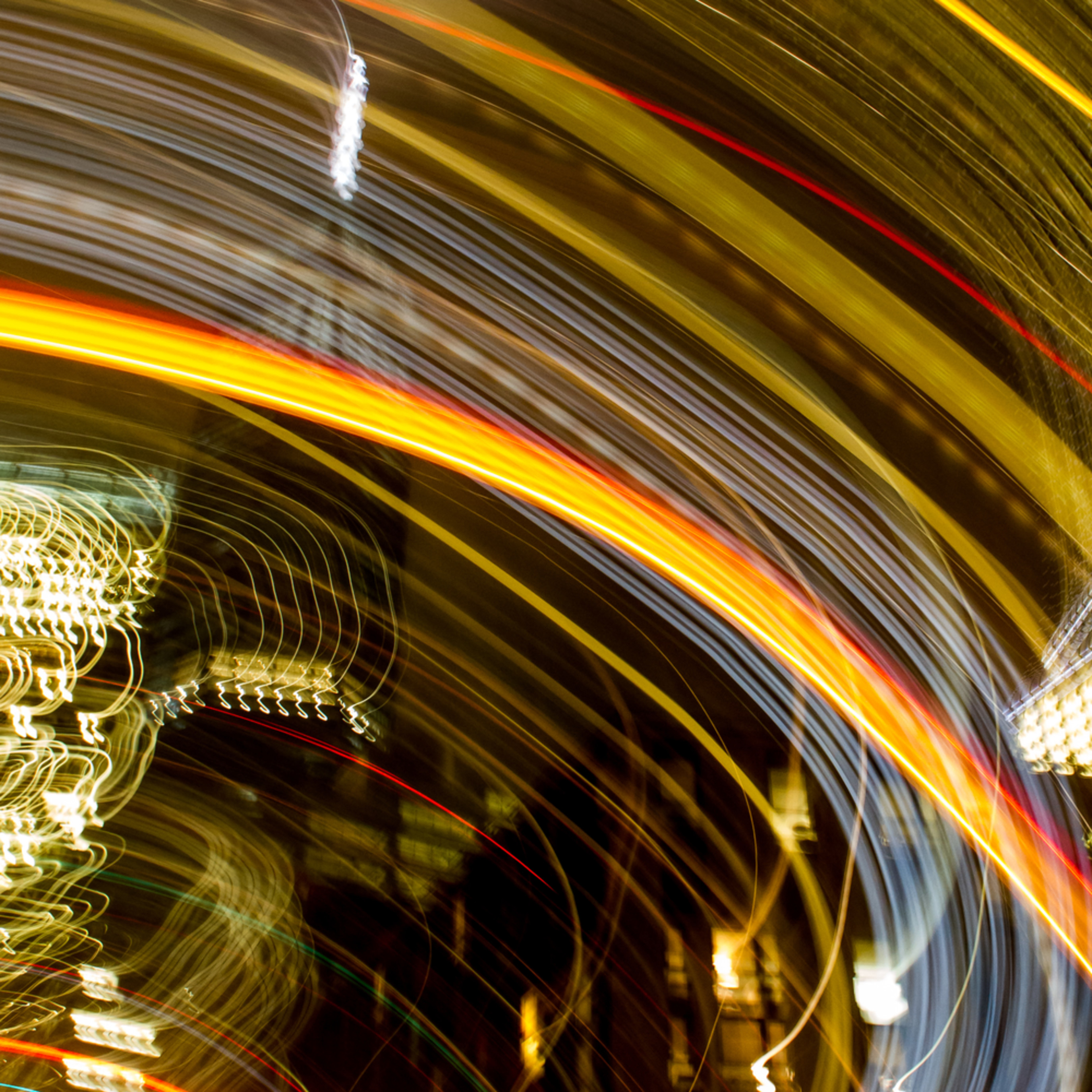 New york city at night one world motion abstract dgbh3o