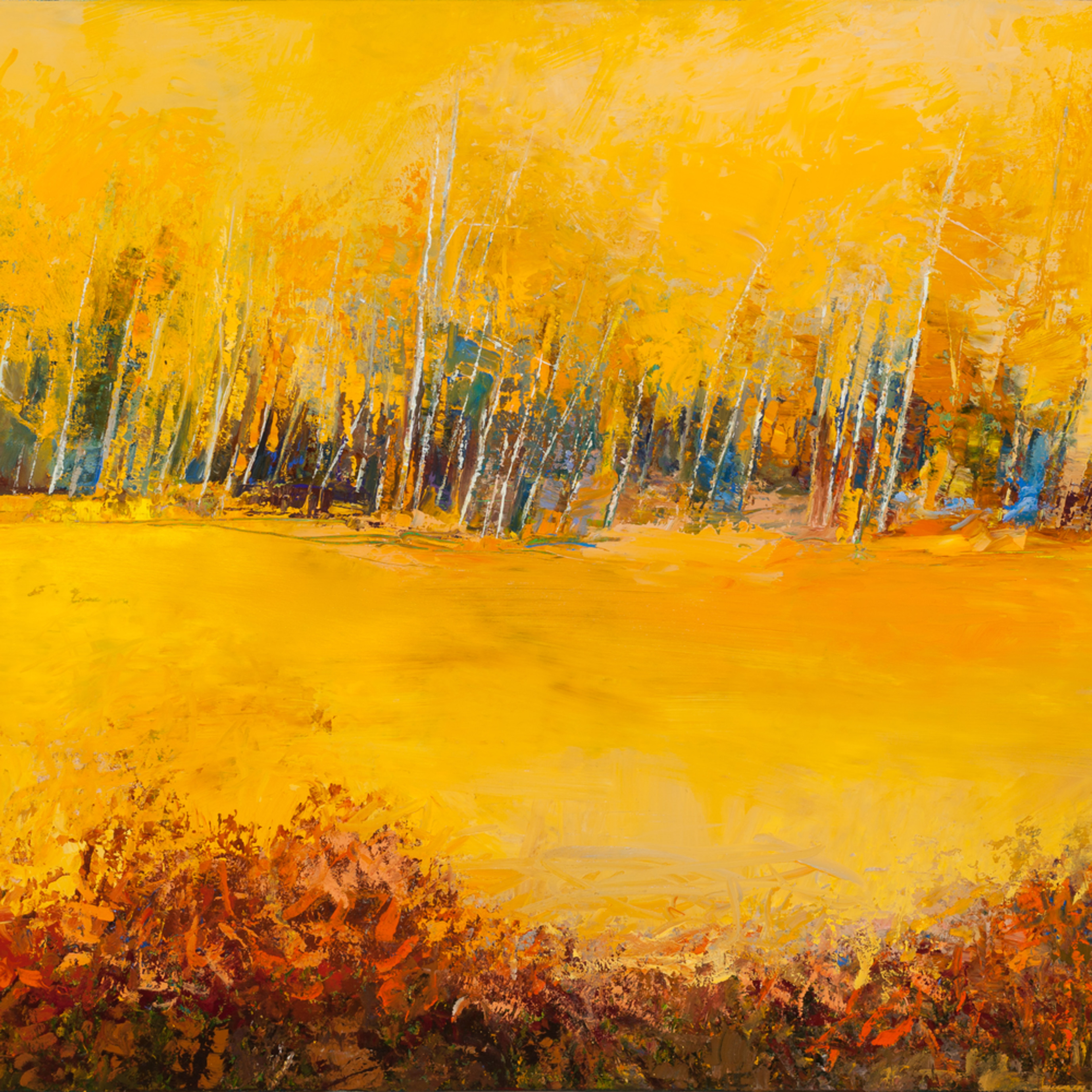 Aspen trees abstract landscape paintings  tracy lynn pristas zyv5bu