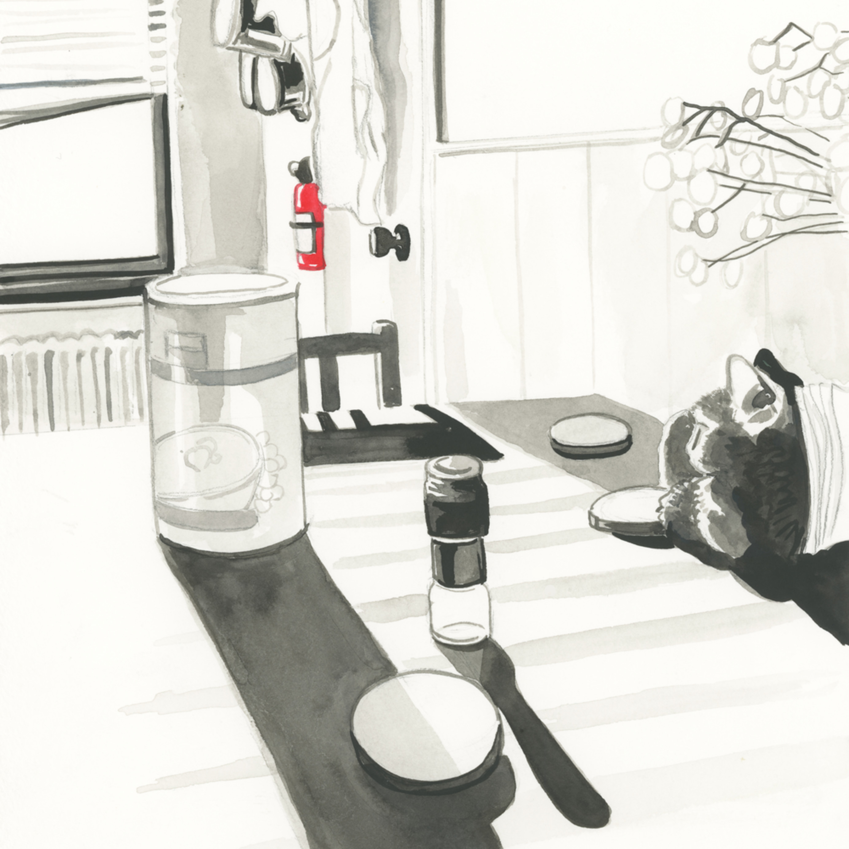 Kitchen table drawing mary younkin wetpaintnyc gallery h0hpse