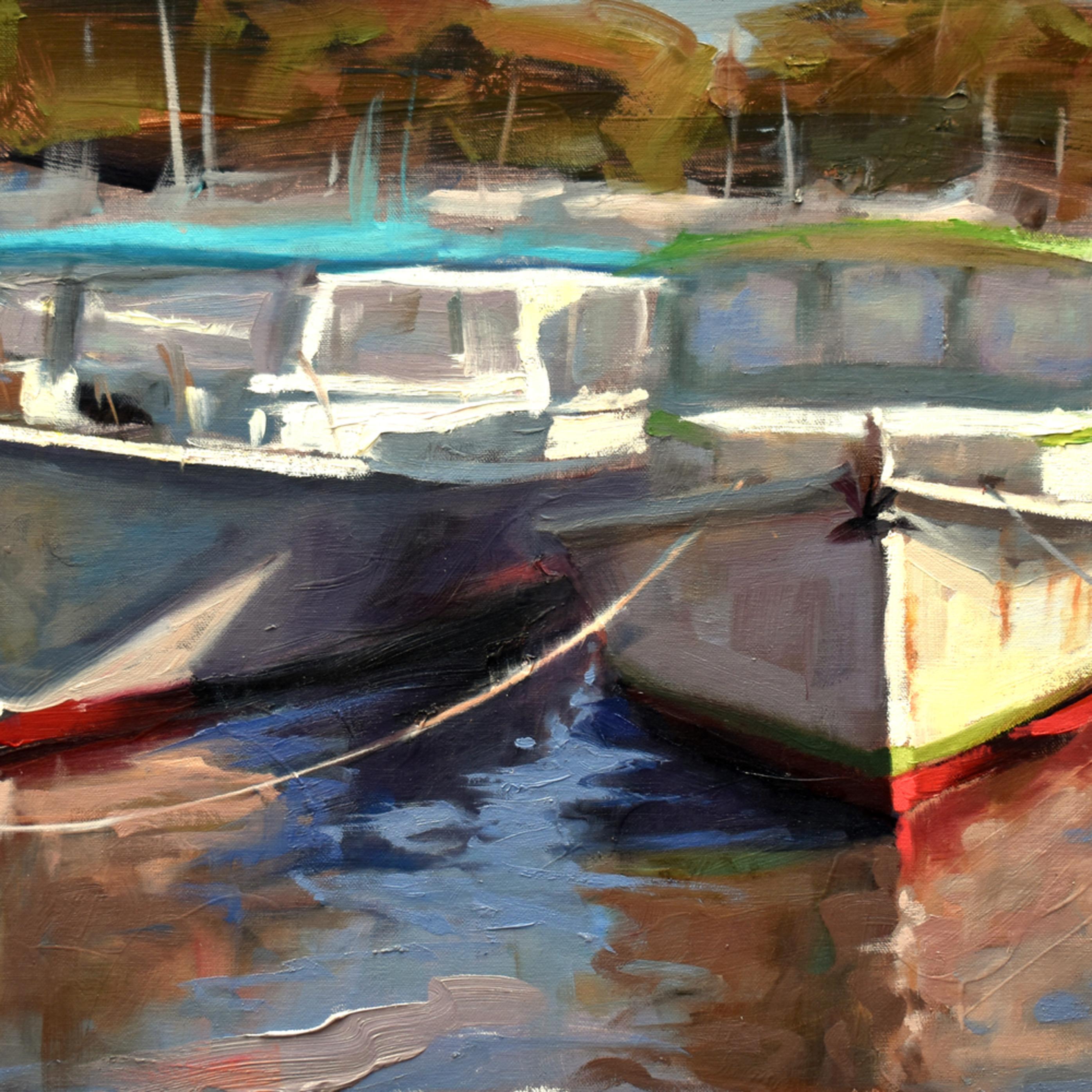 Lunch boats 24x13 oil 2020 jn0jrw