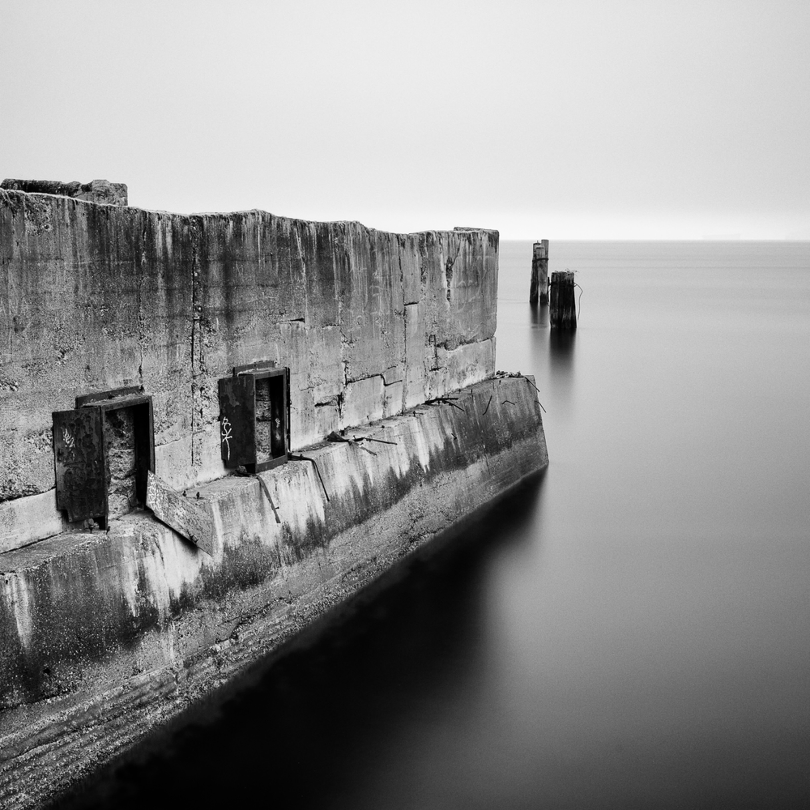Concrete ruins on the puget sound tacoma washington january 2014 bwoktk