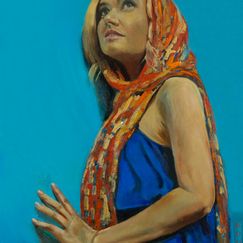 Orange scarf bzn1bh