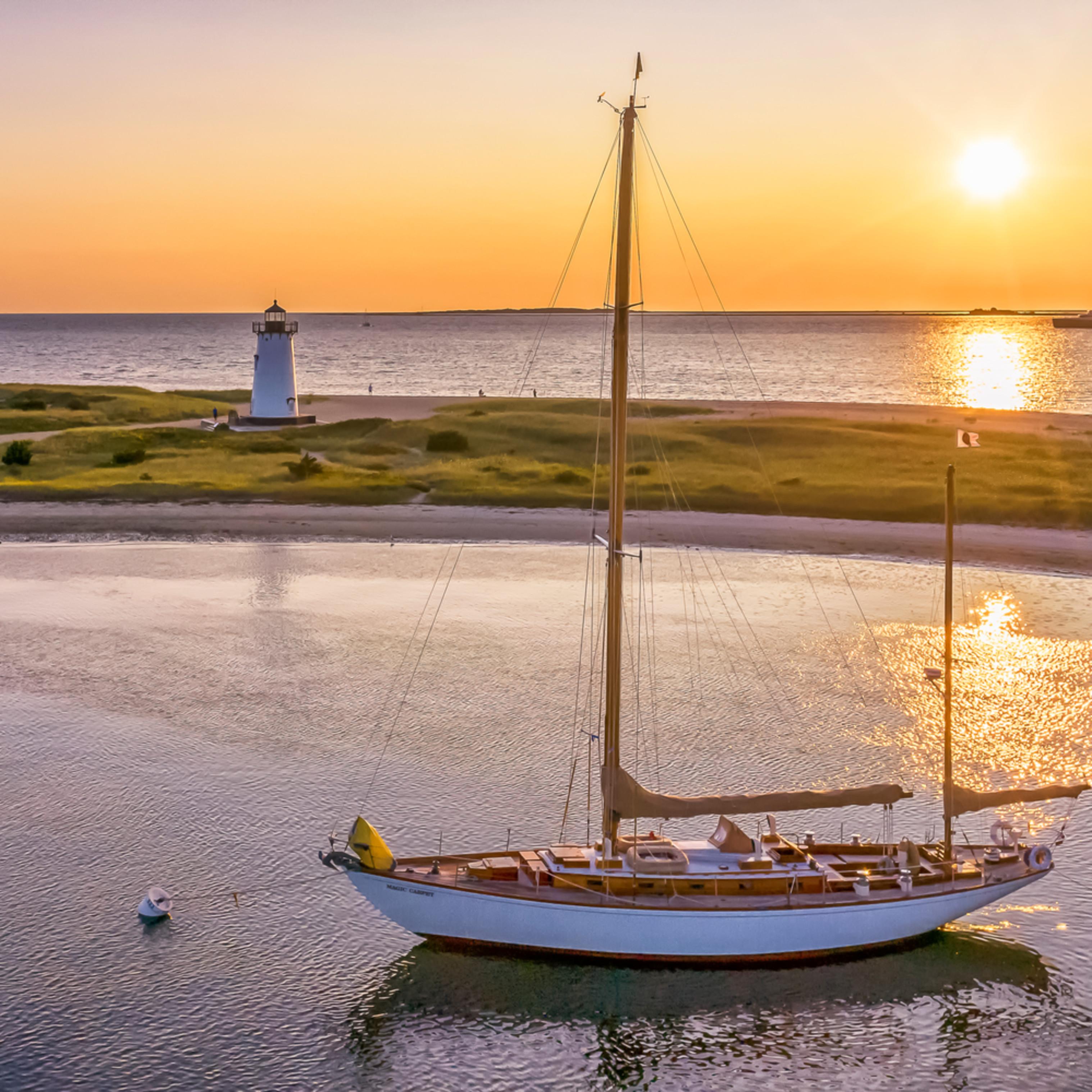 Edartown harbor summer sunrise dkkqlp