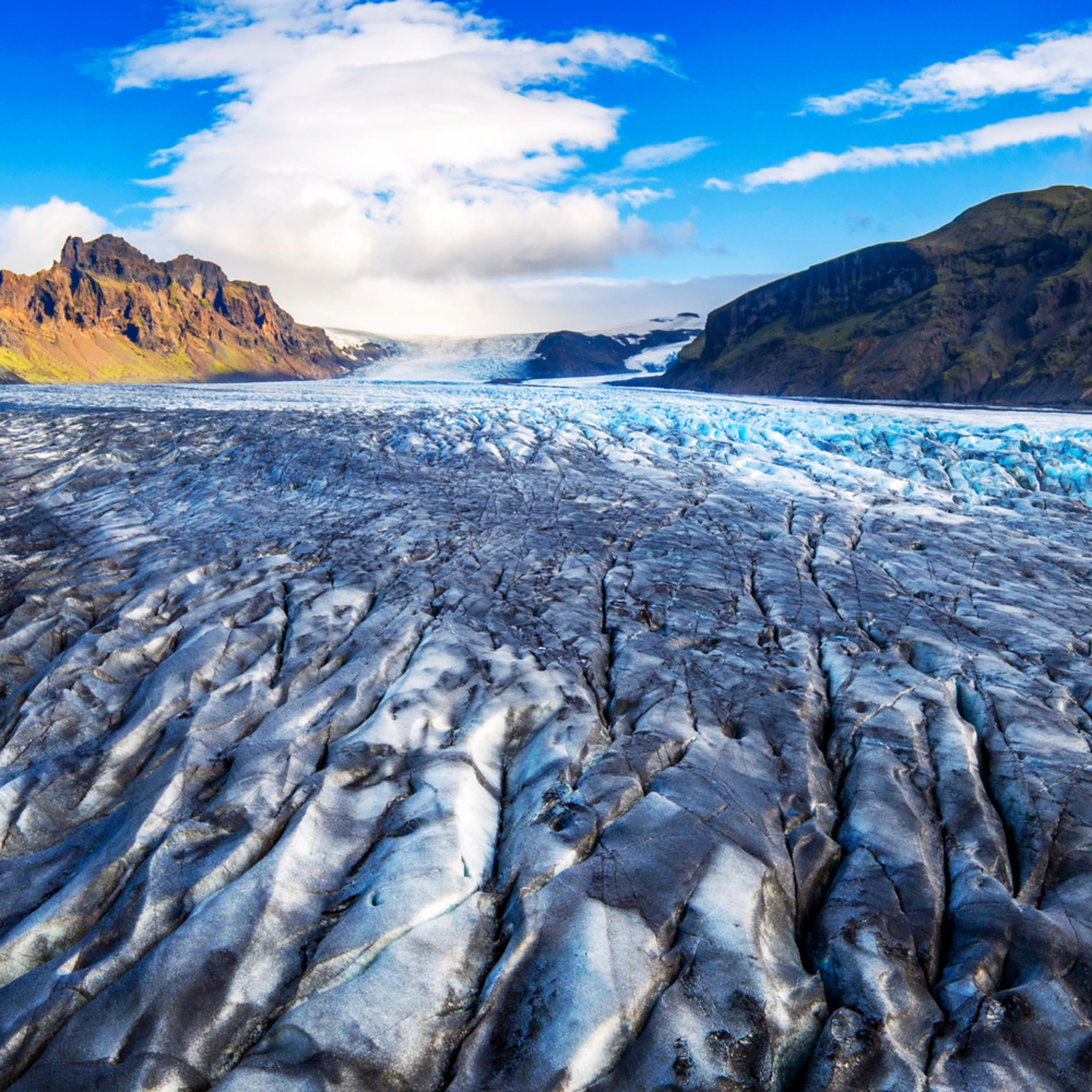 Skaftafell glacier aerial trt5ei