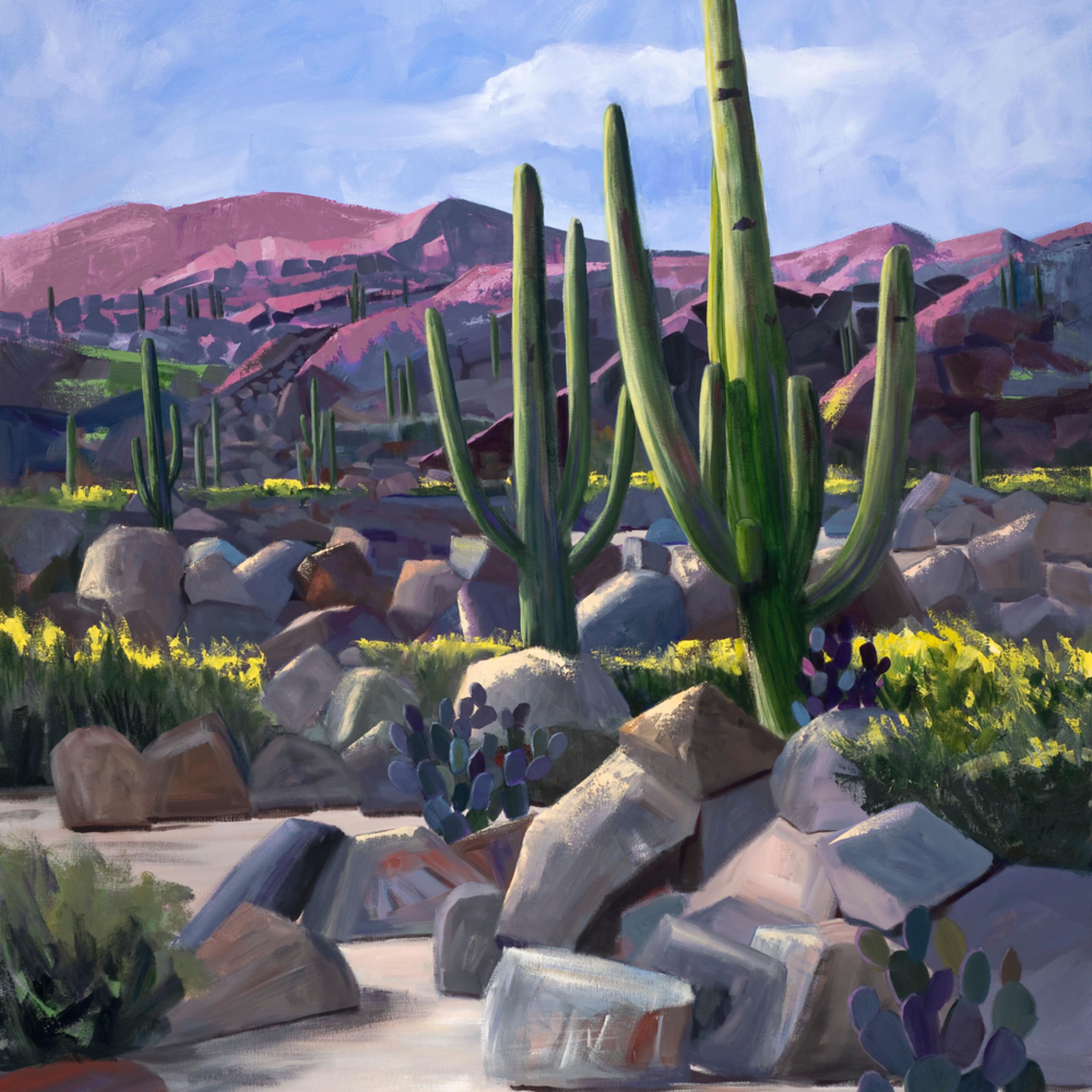 Party cactus i by diana madaras 60 x 48 edited sky kqaknz