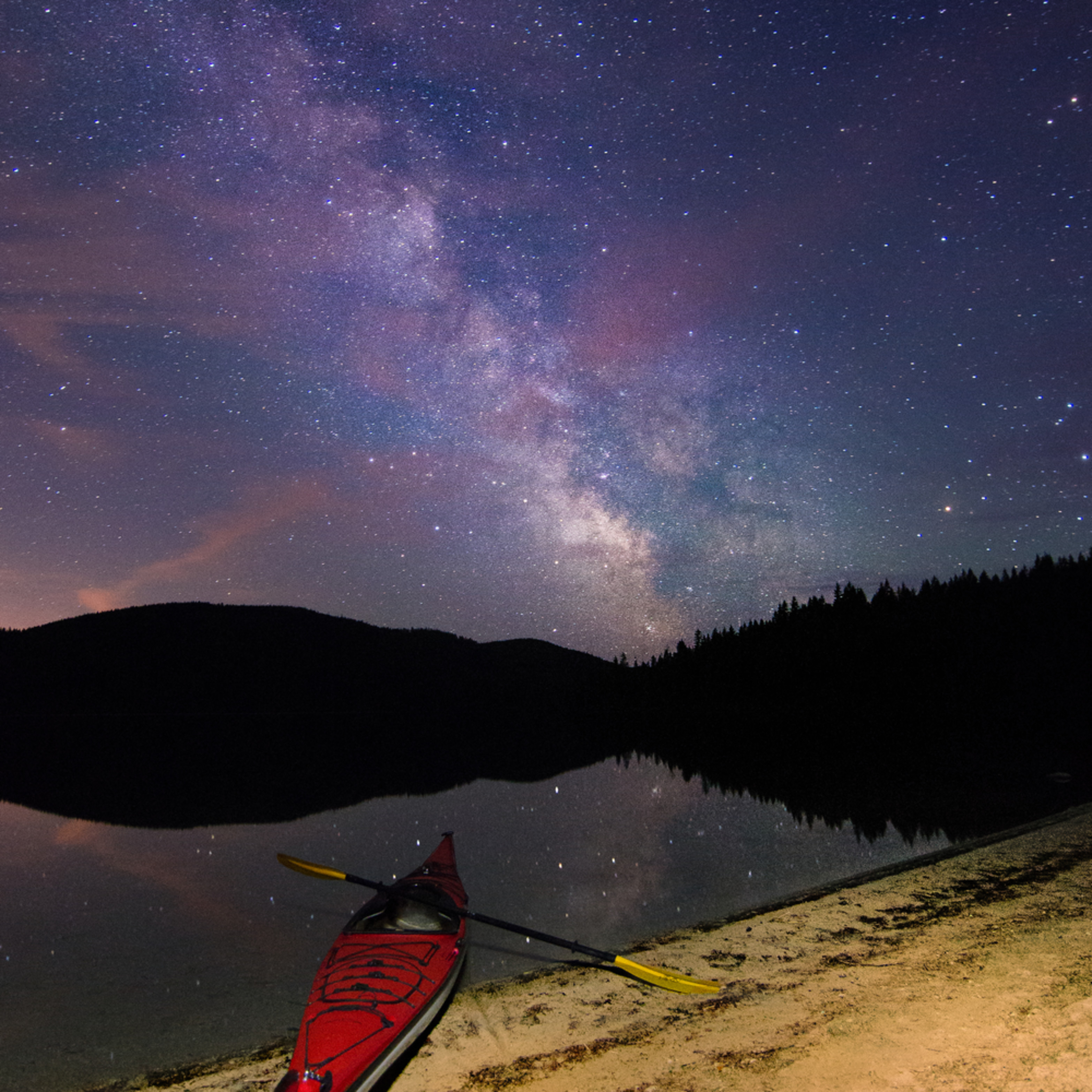 Milky way amor lake kayak heather k jones 2 2 eunkve