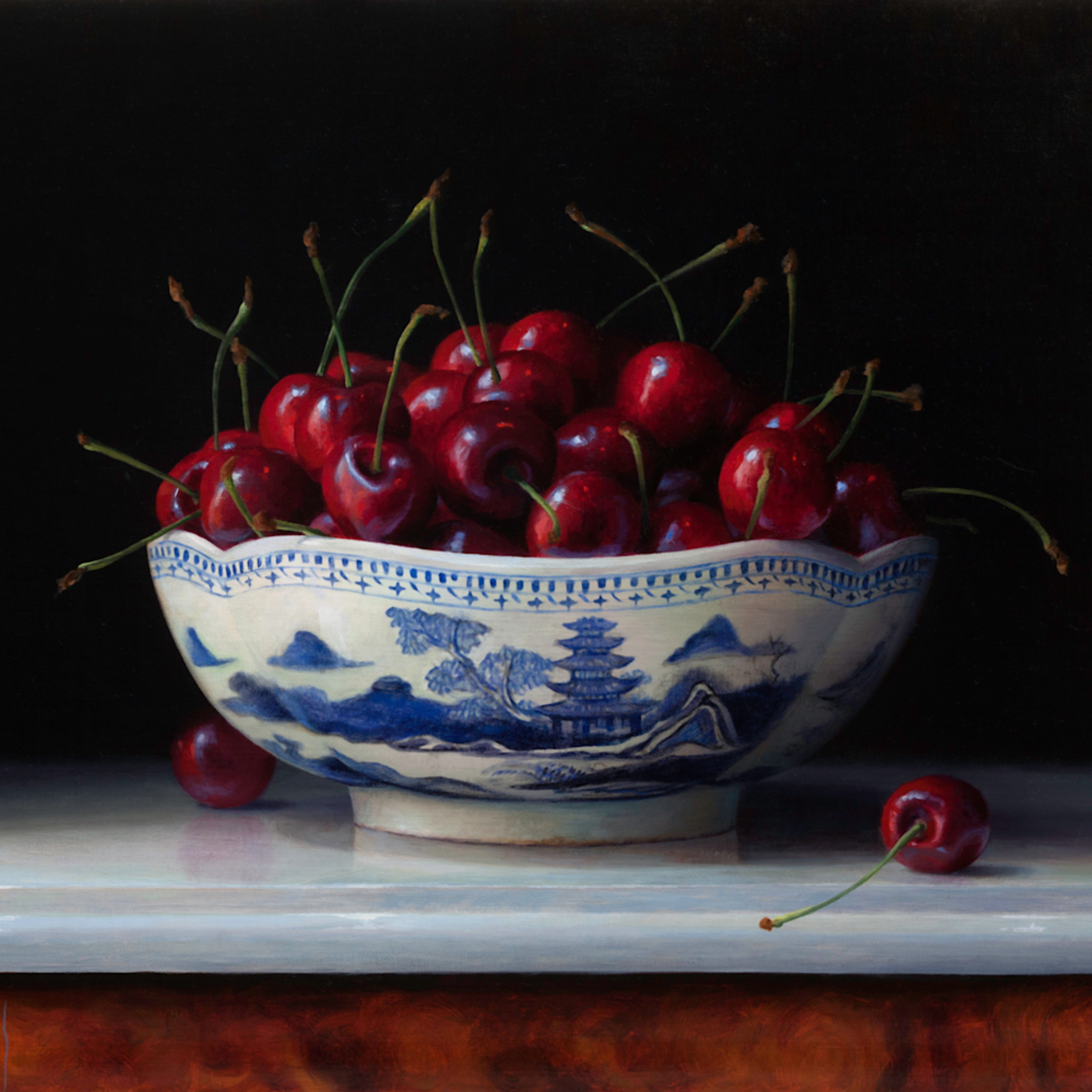 Cherries in canton bowl tbc8ce