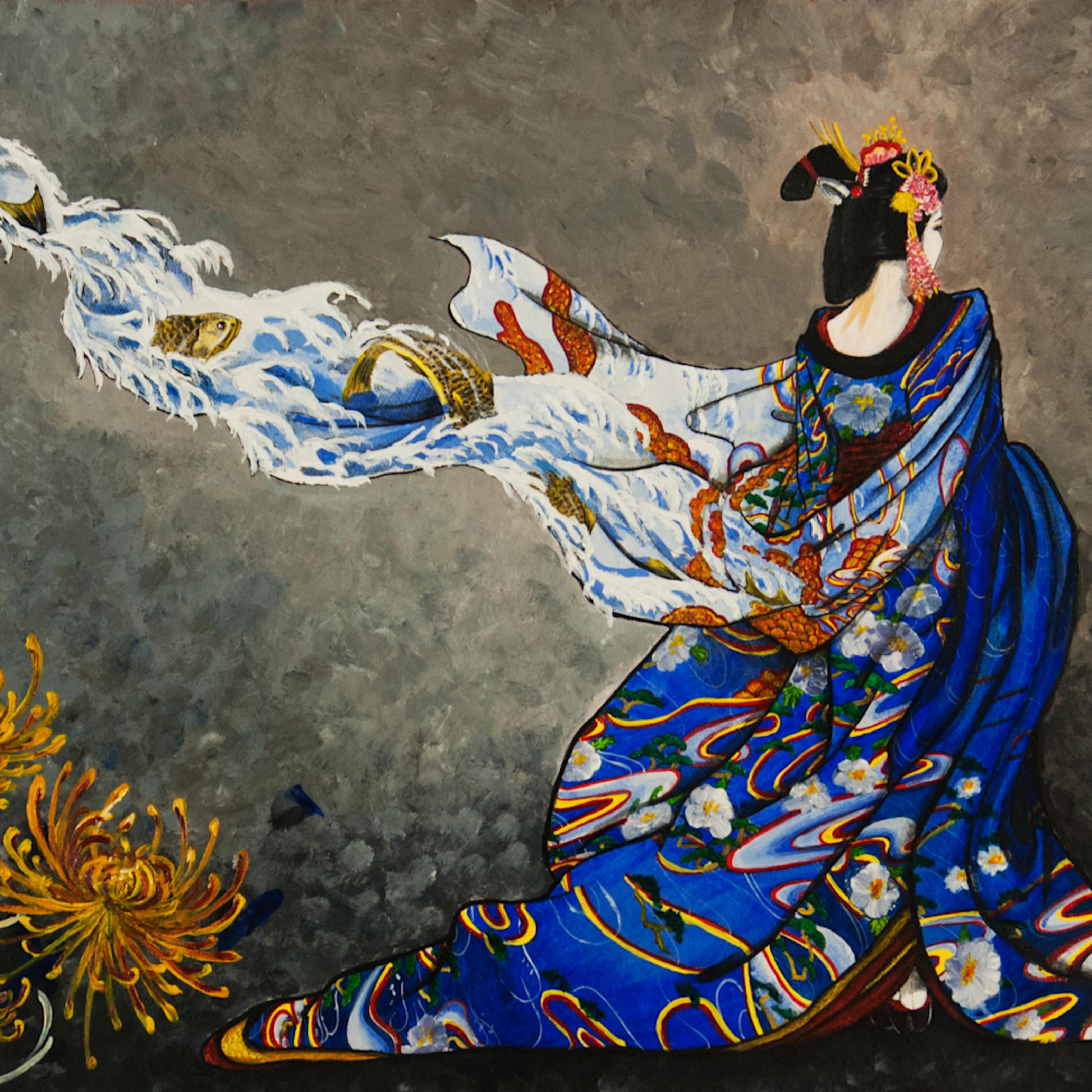 Painted kimono lg cqnqbx