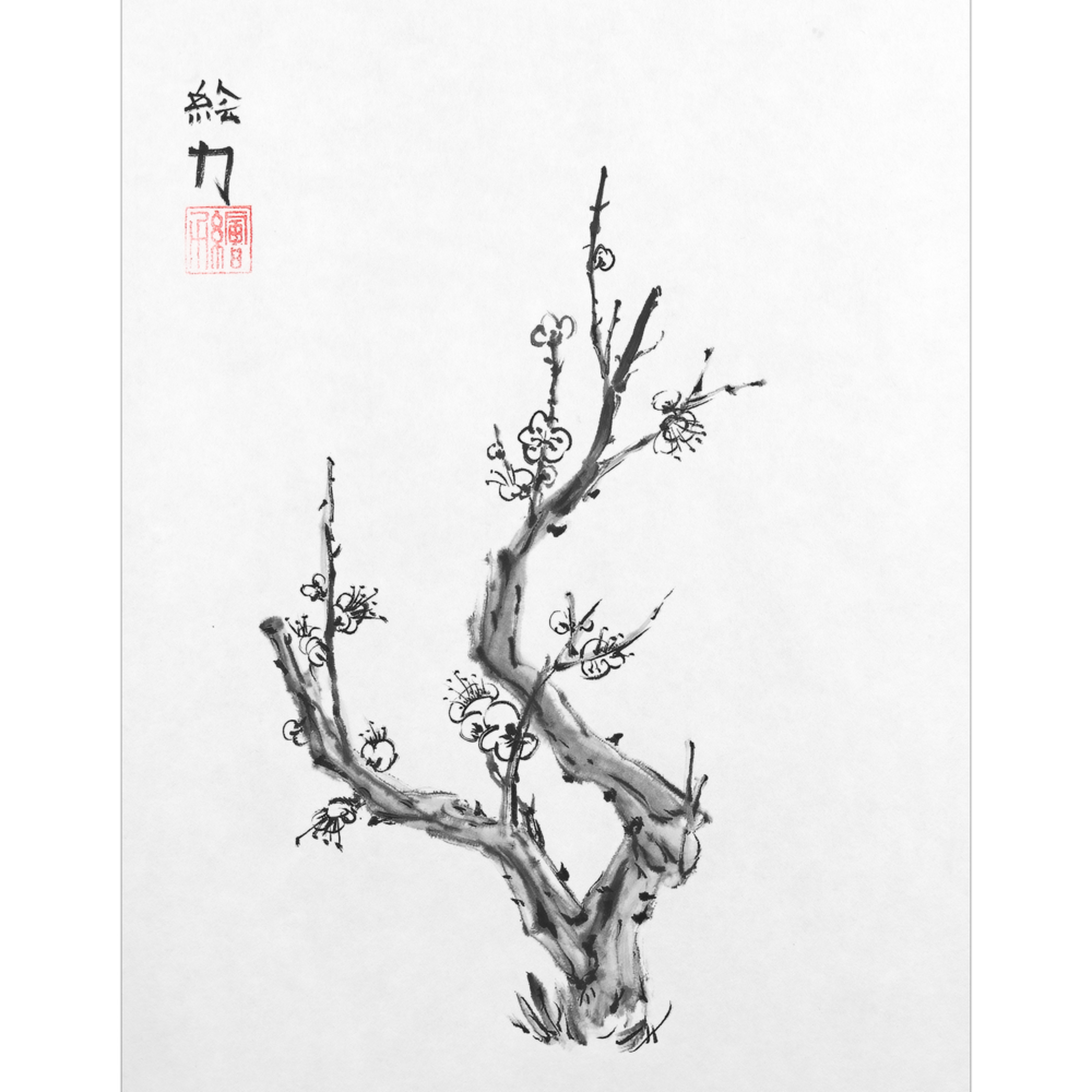 Hombretheartist sumie plumblossom 2 forprint111219 wafo9k