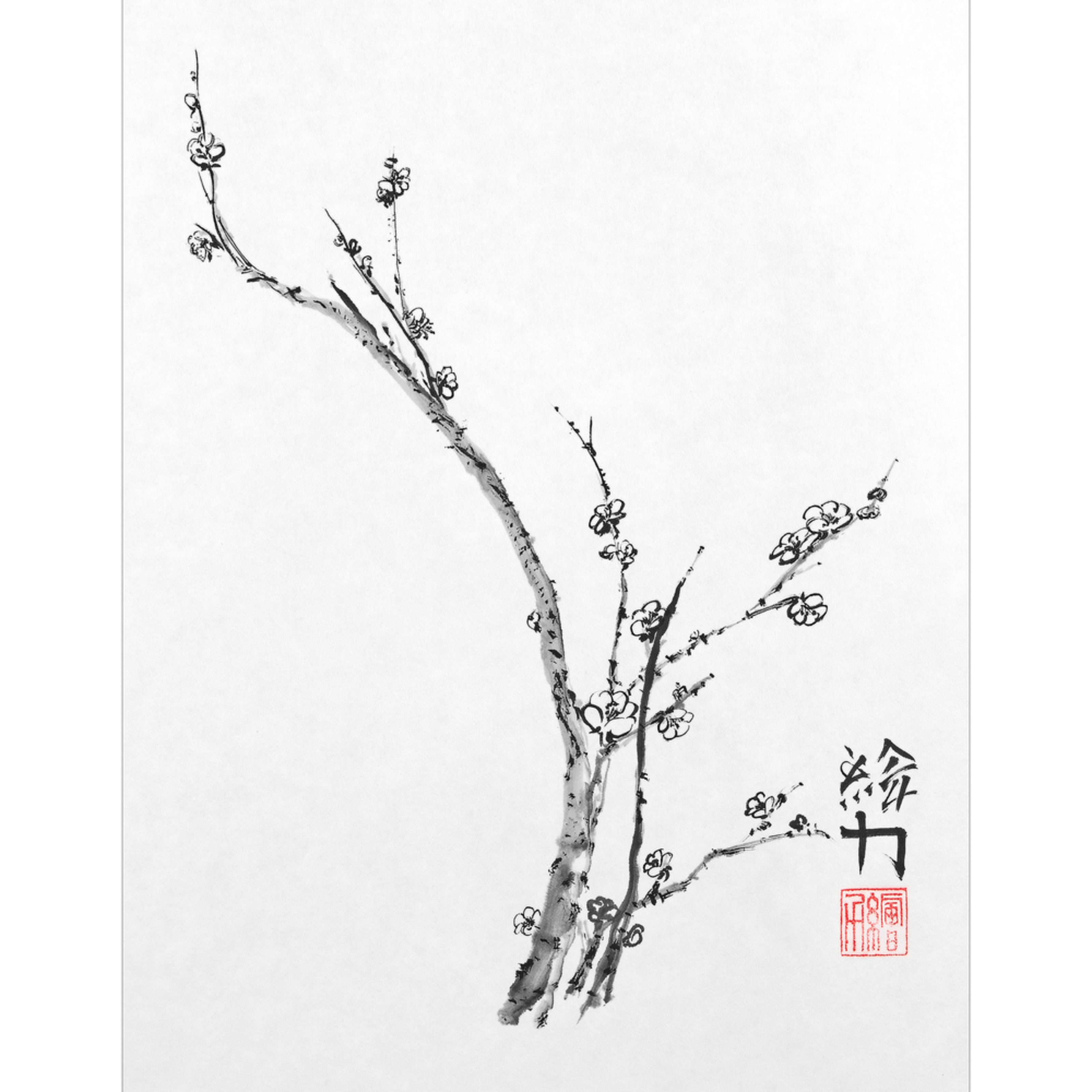 Hombretheartist sumie plumblossom 4 forprint 111219 yonx2i