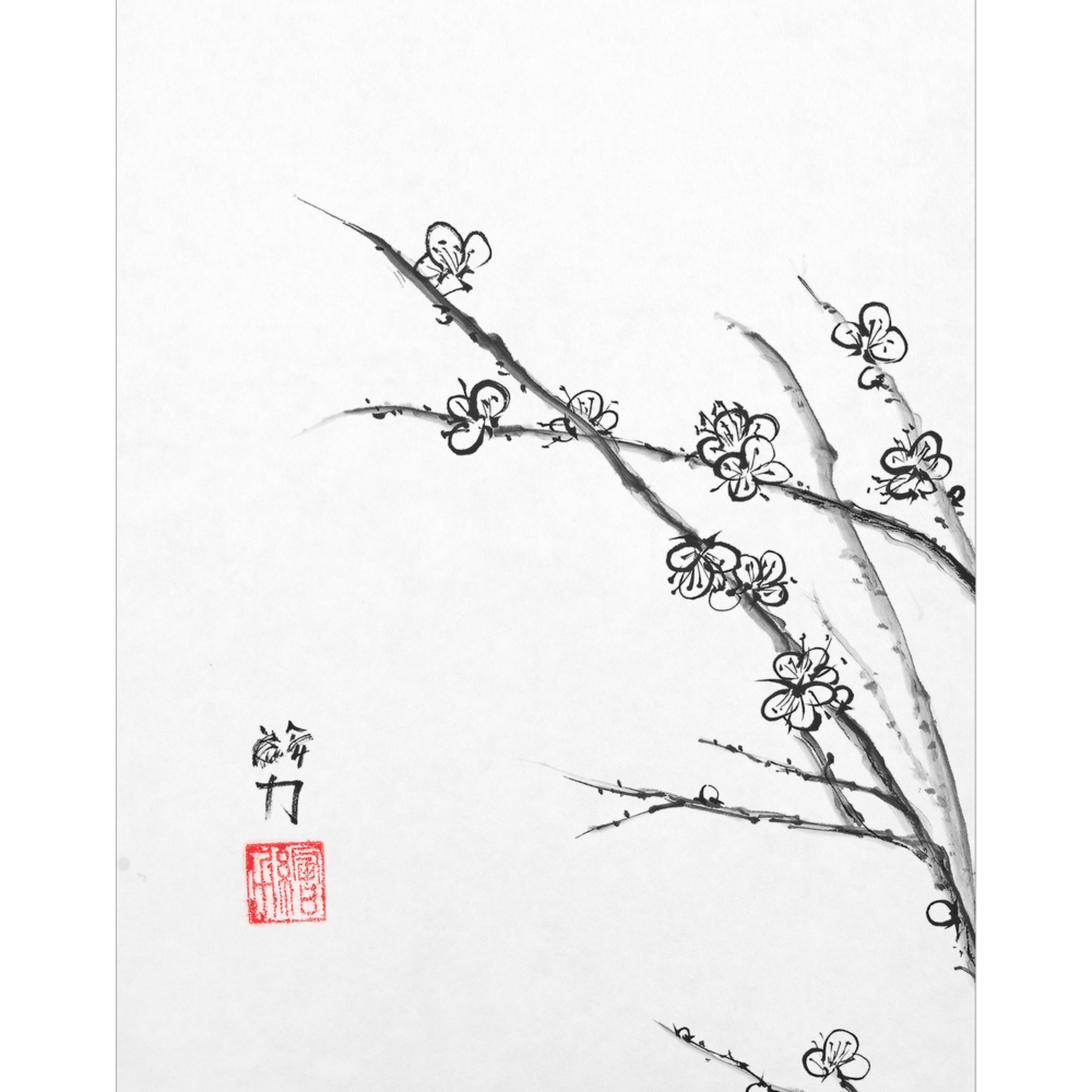 Hombretheartist sumie plumblossom 3 forprint 111219 xd5mbf