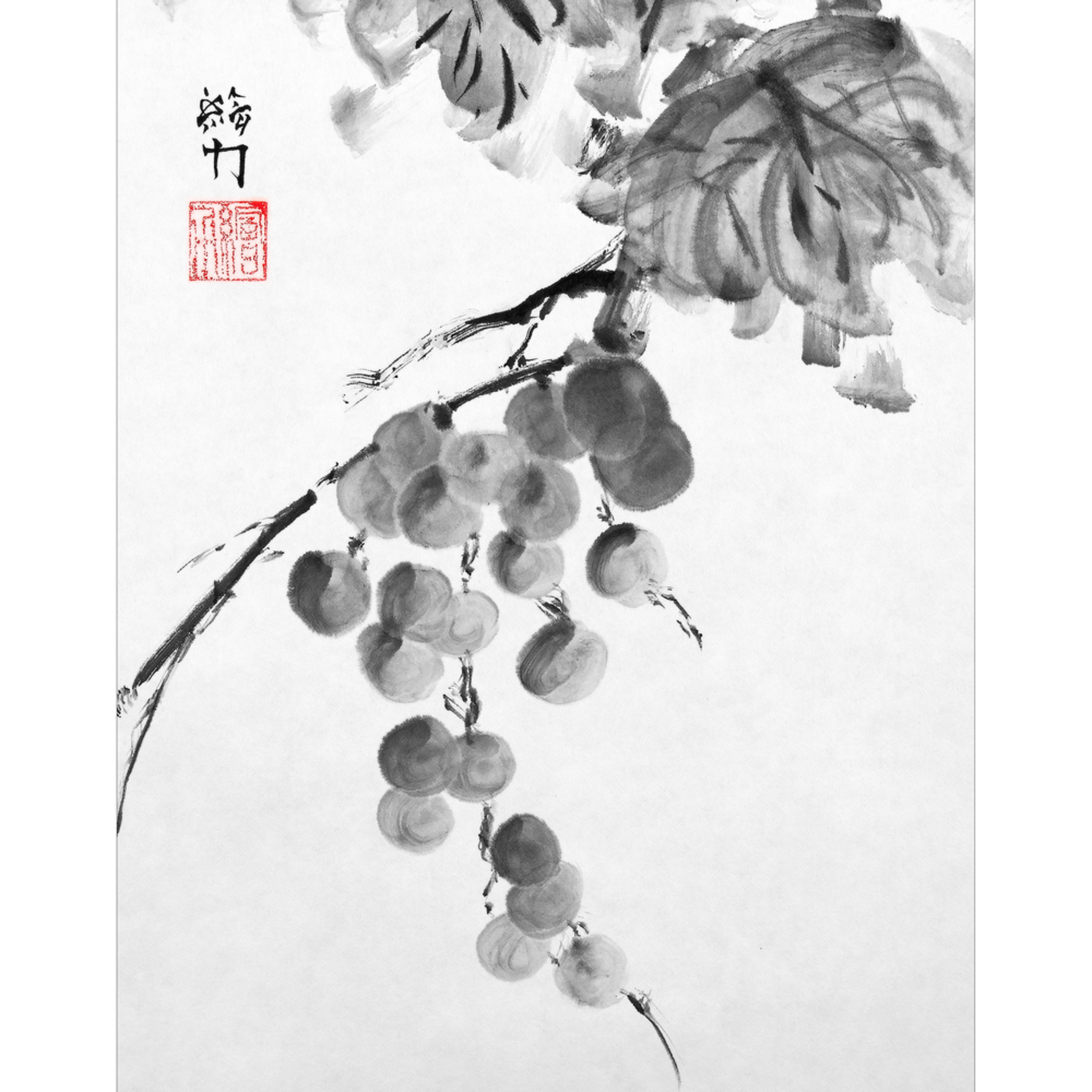 Hombretheartist sumie grapes 2 forprint 111219 lqprzd