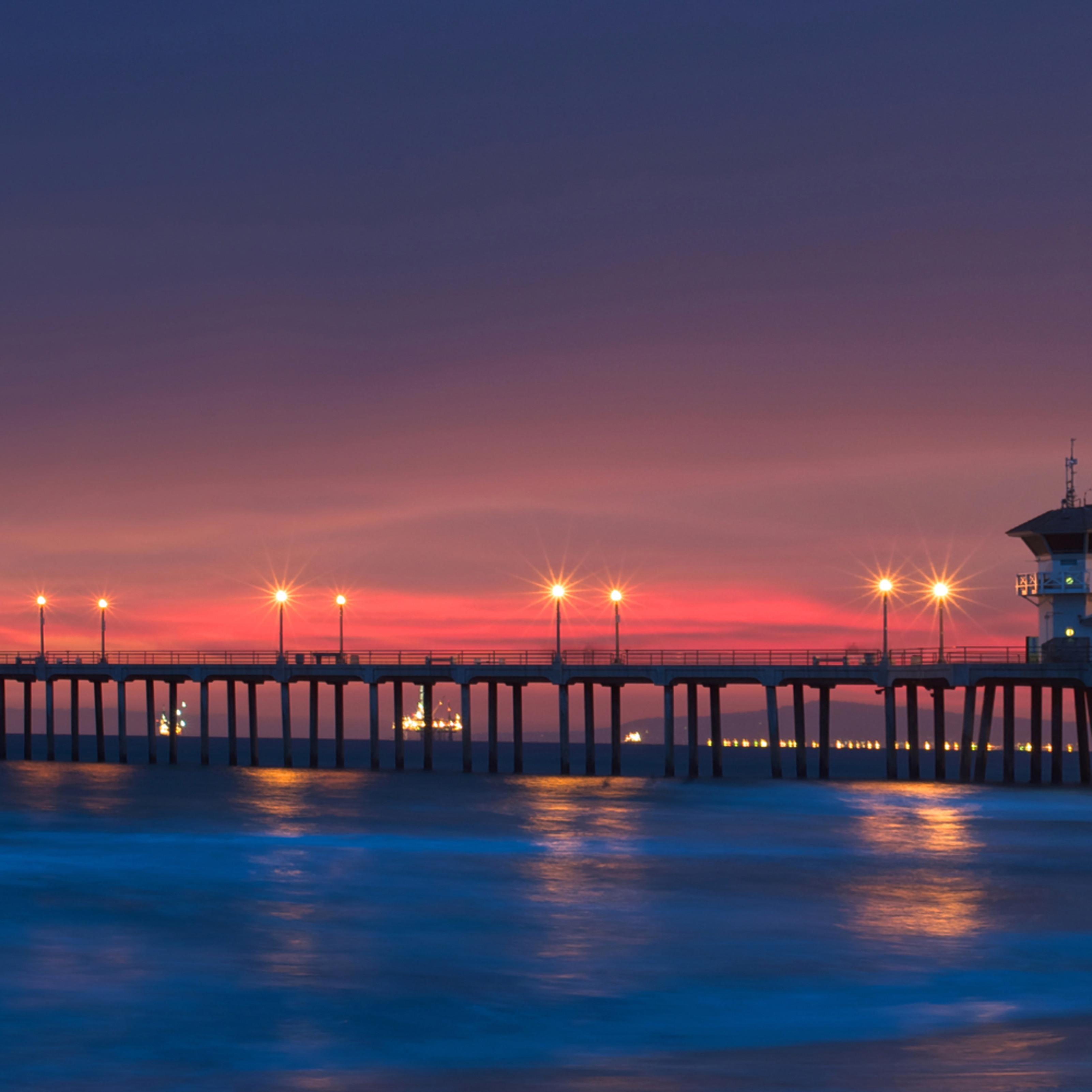 Huntington beach california sunset panorama nevcu8