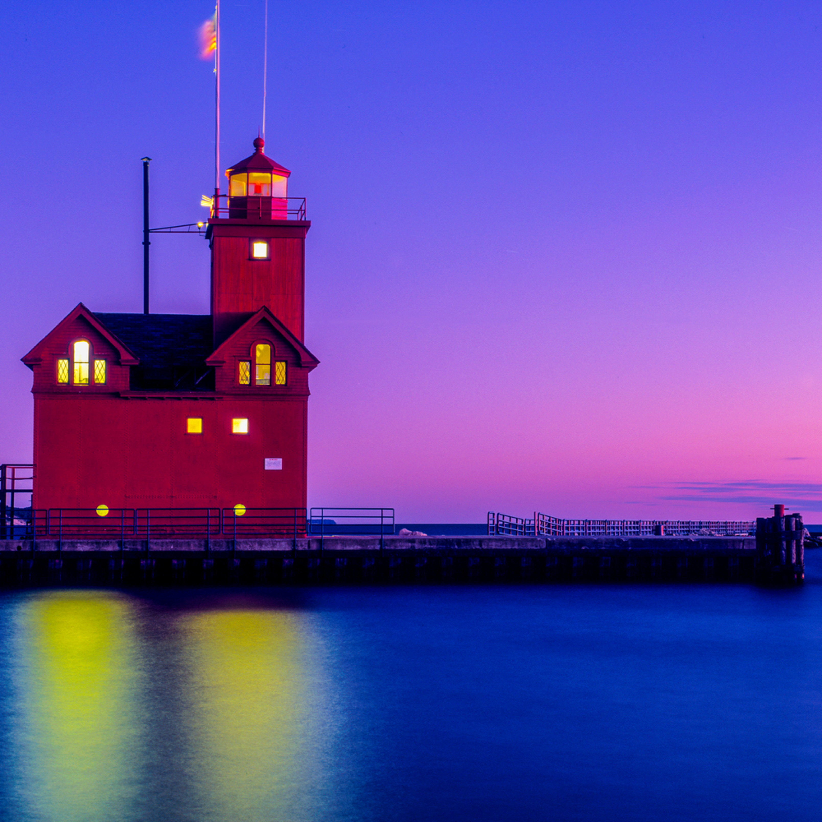 Big red light house lake mi. holland mi d45nsf