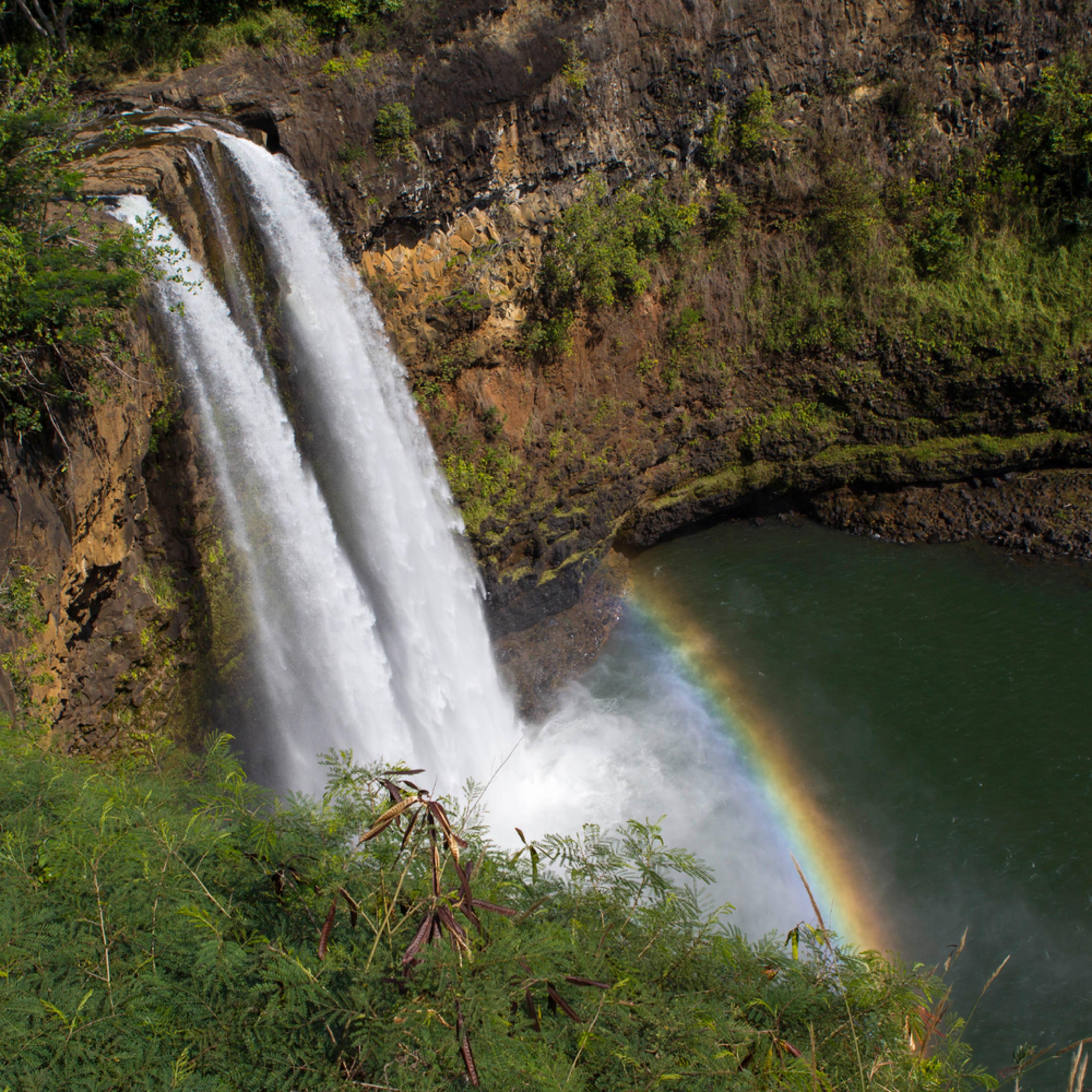 Wailua falls rainbow jkdivz