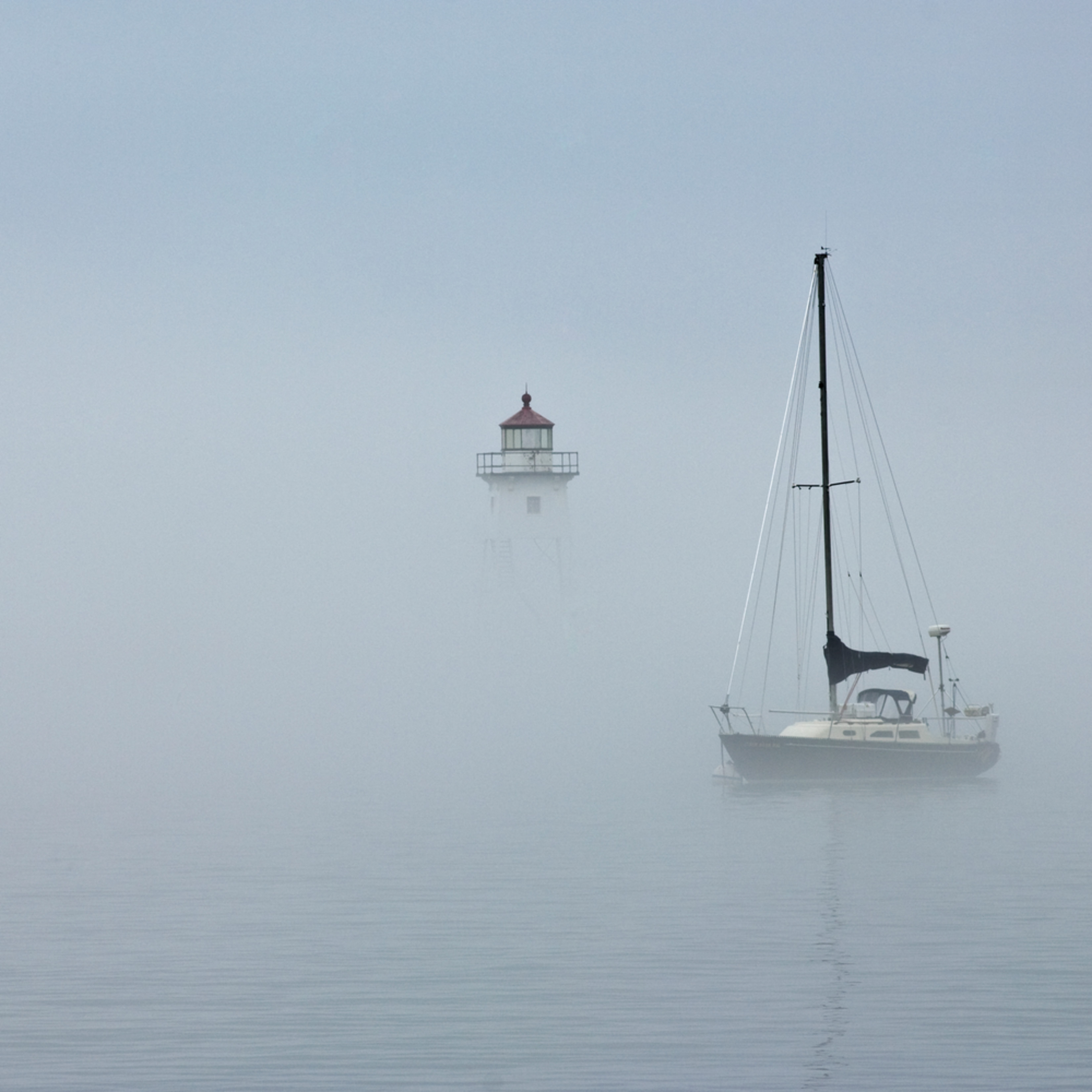 Dp375 grand marais harbor in fog blpk44