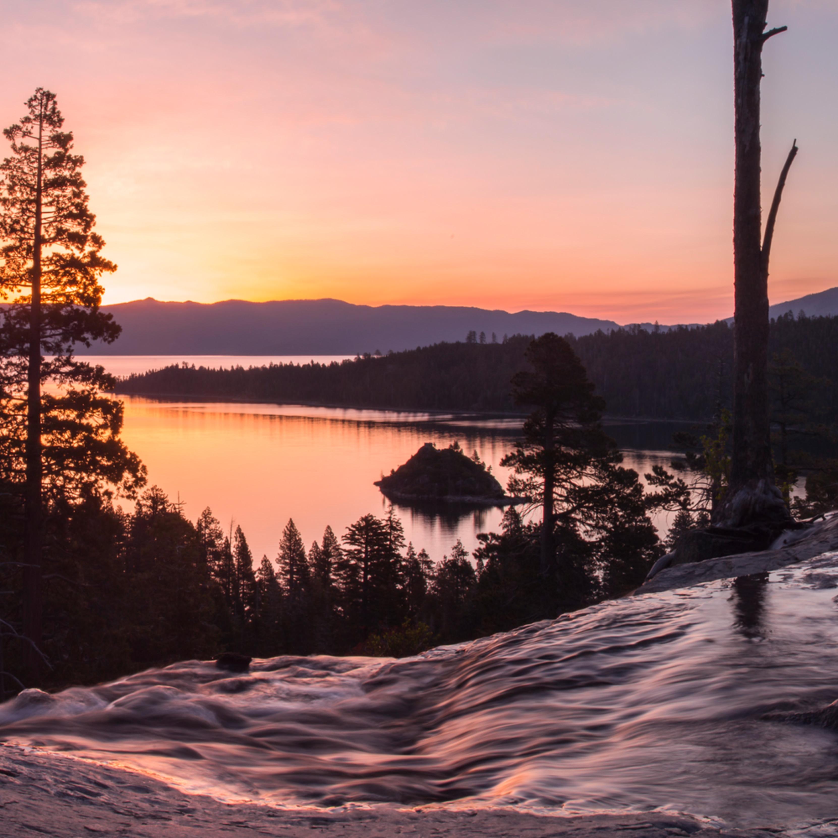 Eagle falls sunrise warm picypw