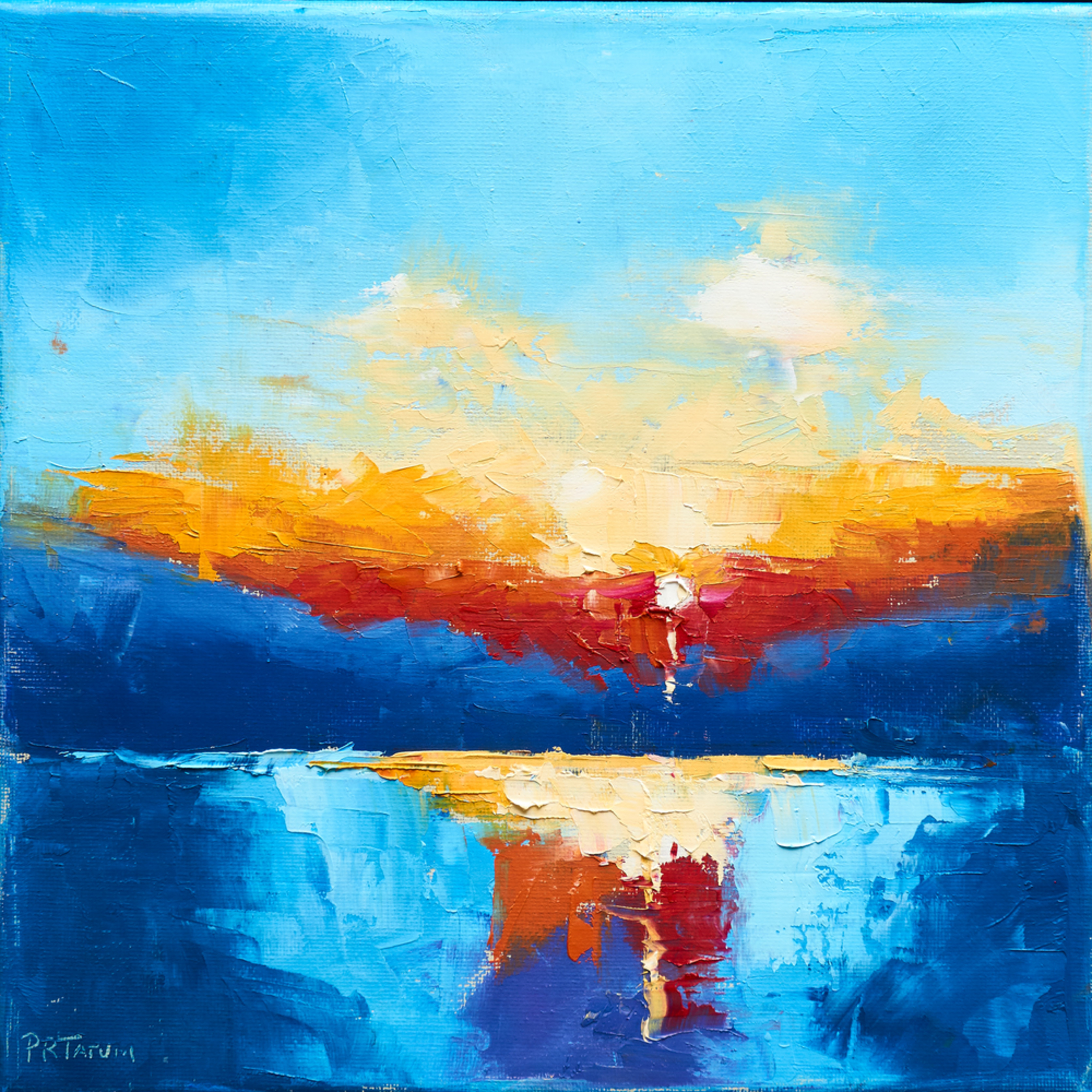 Sunset on the marsh ii f55jfa